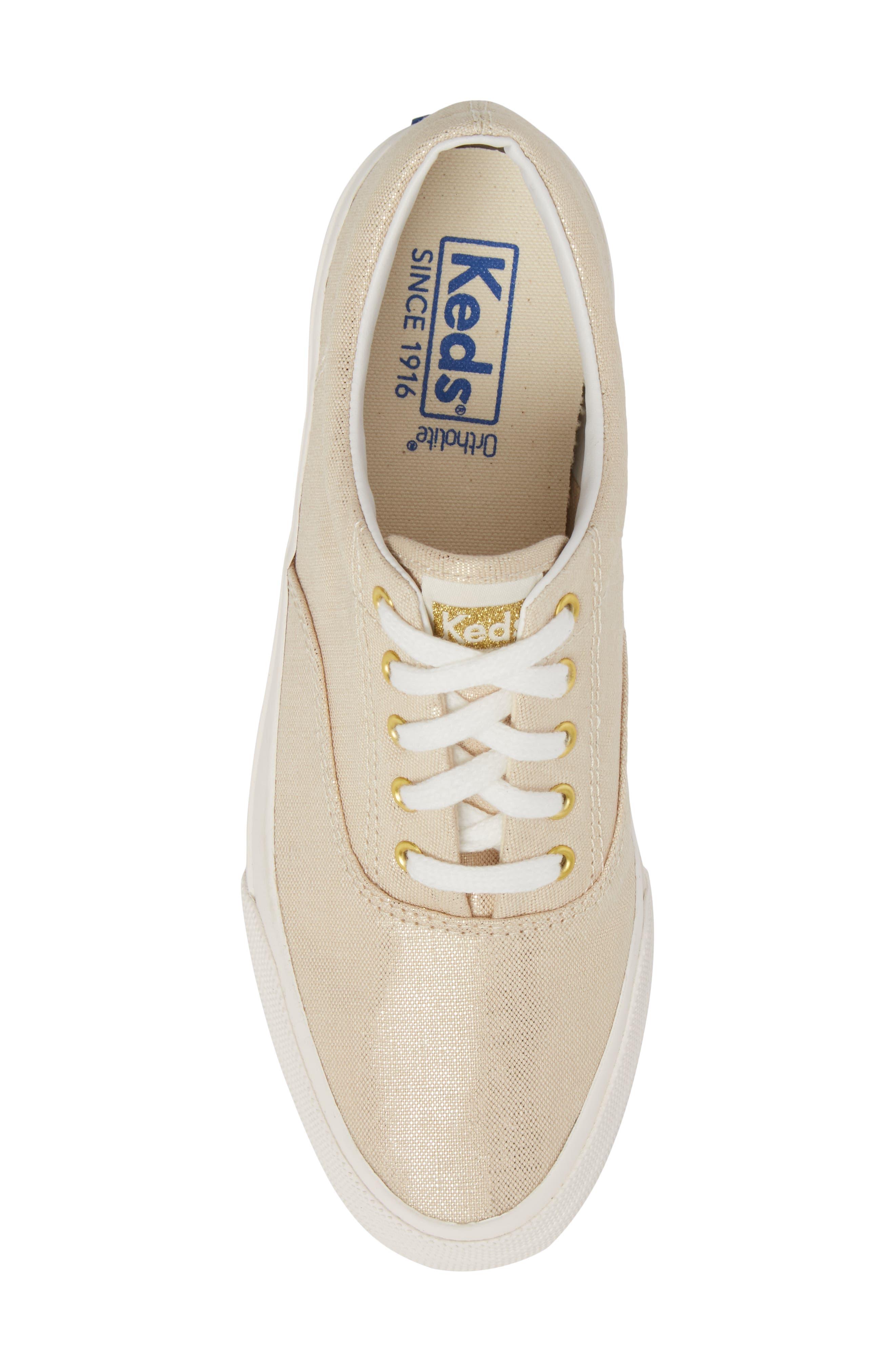 Alternate Image 5  - Keds® Anchor Metallic Linen Sneaker (Women)