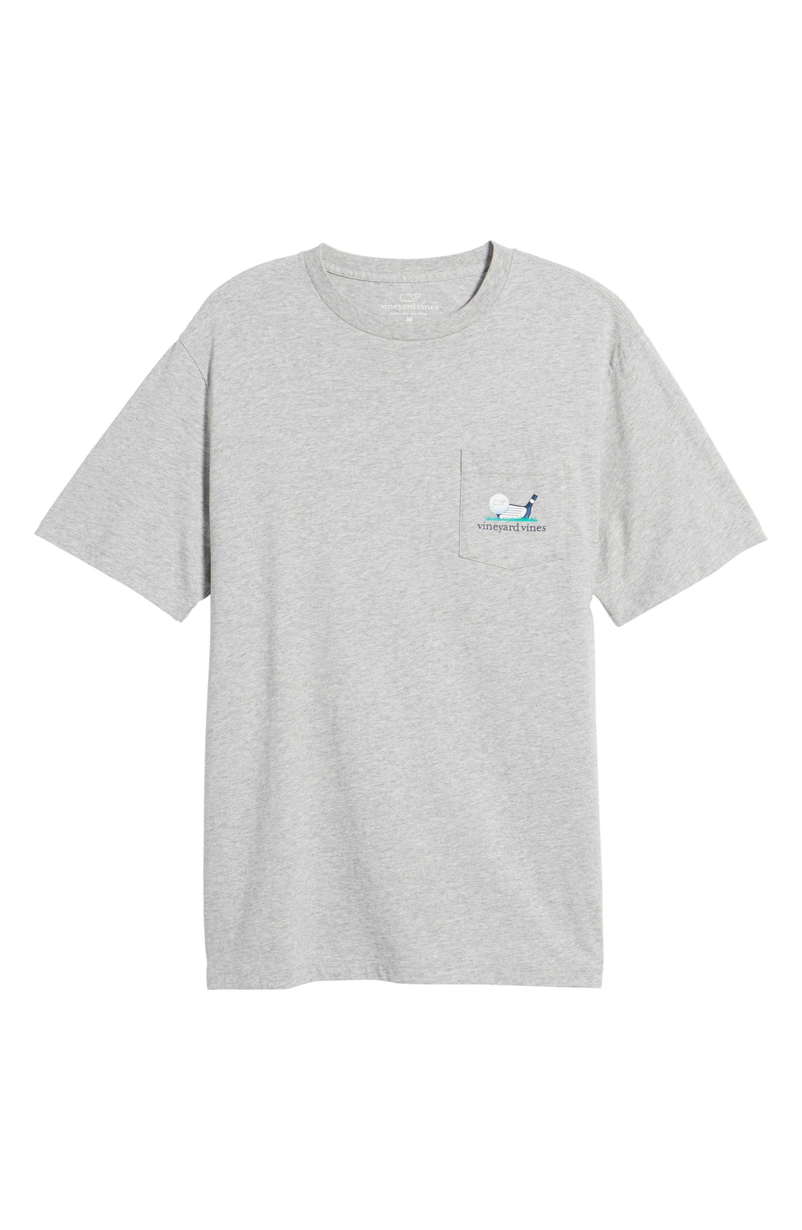 Regular Fit Golf T-Shirt,                             Alternate thumbnail 6, color,                             Gray Heather