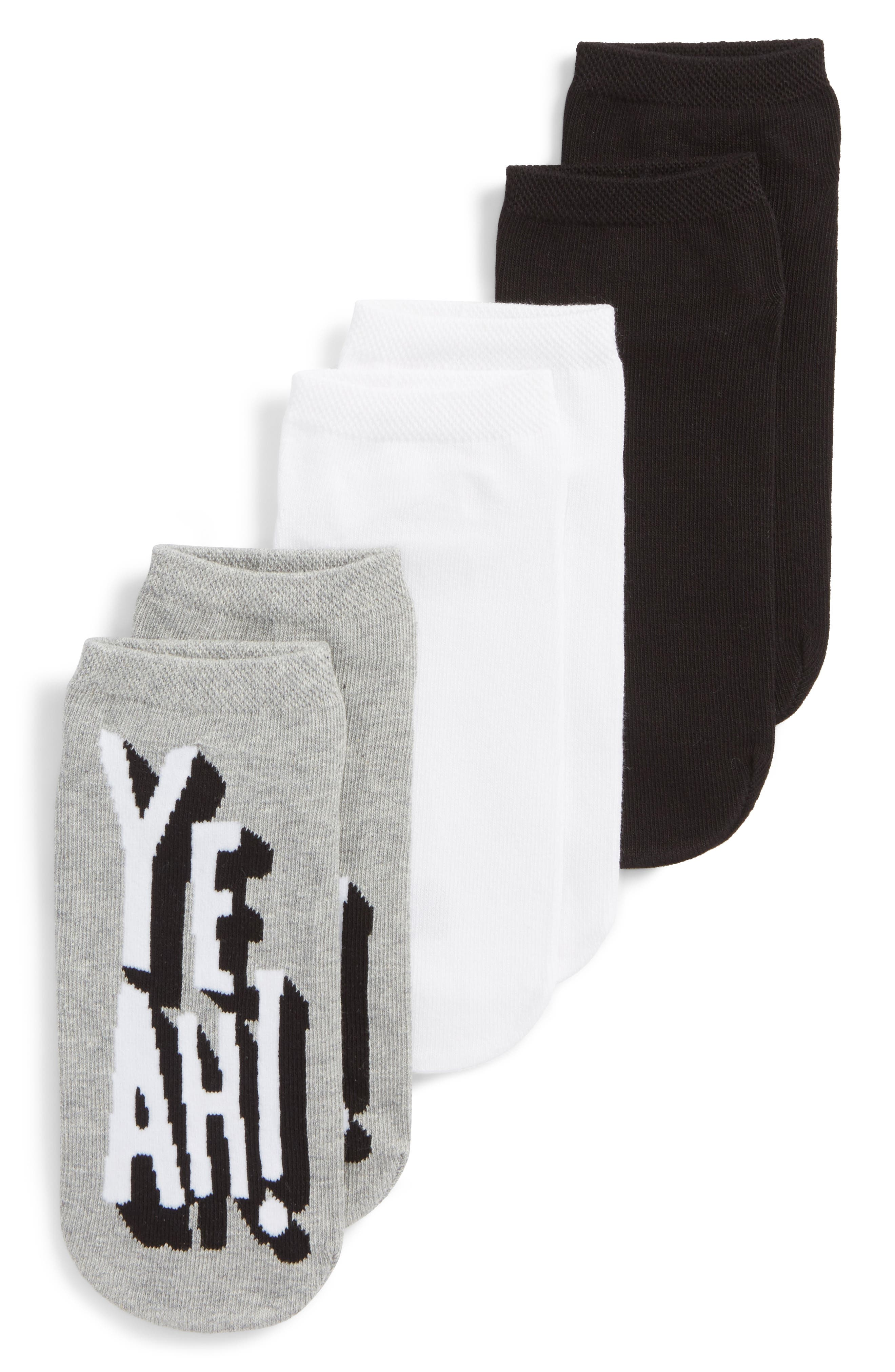 Hue Yeah Footsie 3-Pack Socks