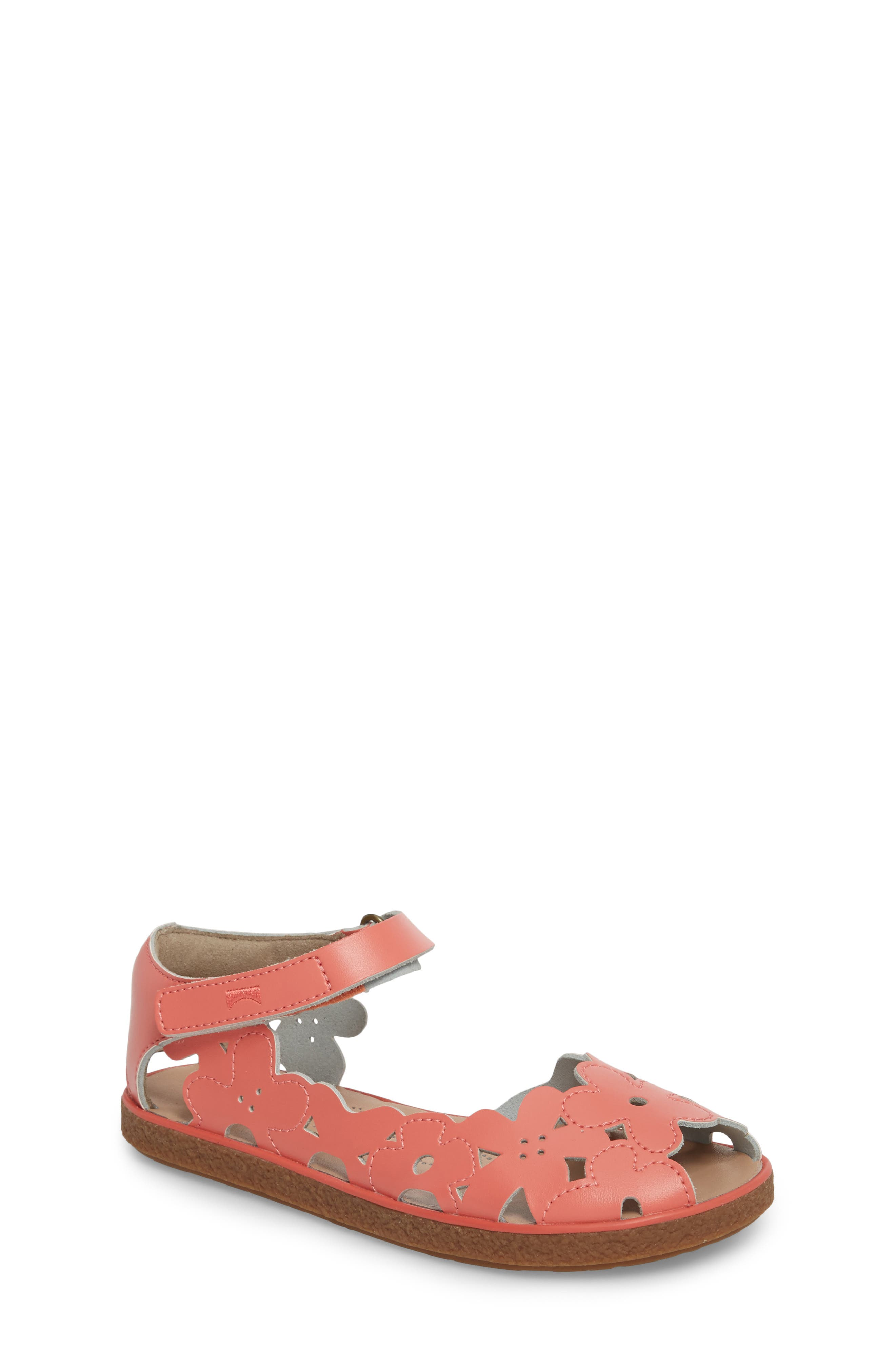Twins Perforated Sandal,                             Main thumbnail 1, color,                             Pink