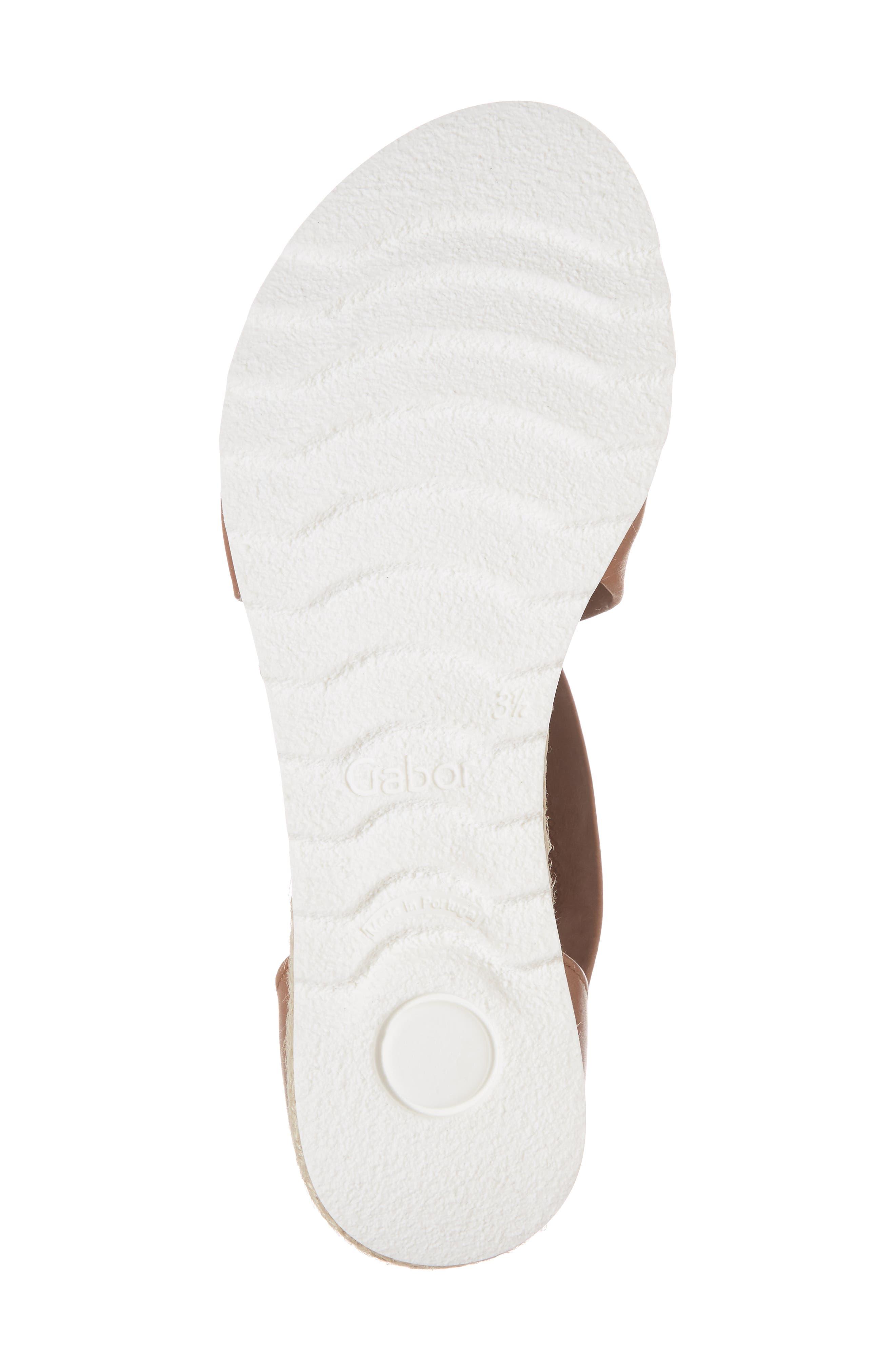 Cross Strap Sandal,                             Alternate thumbnail 6, color,                             Brown Leather