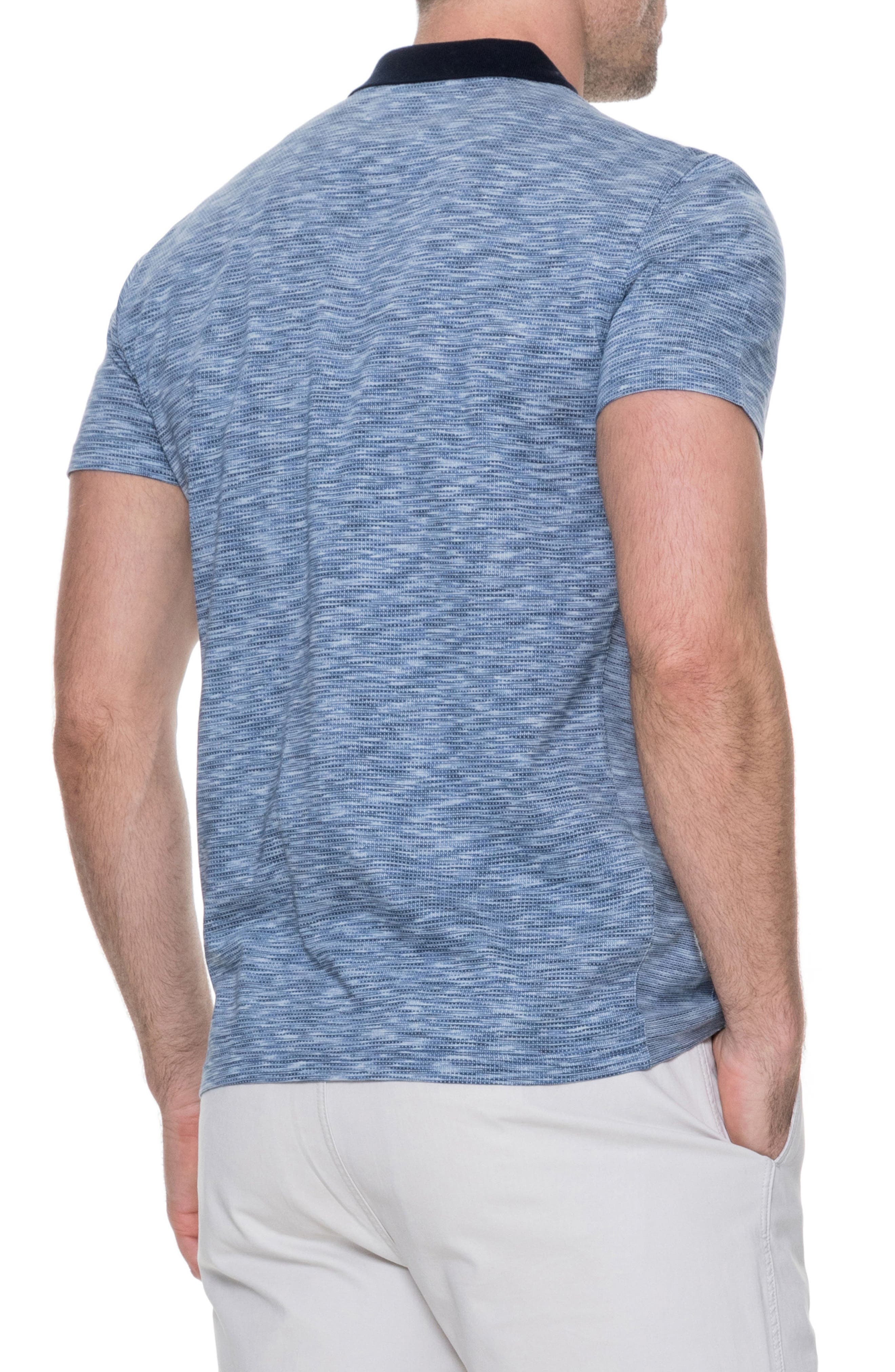 Raywood Sports Fit Polo,                             Alternate thumbnail 2, color,                             Blue Steel