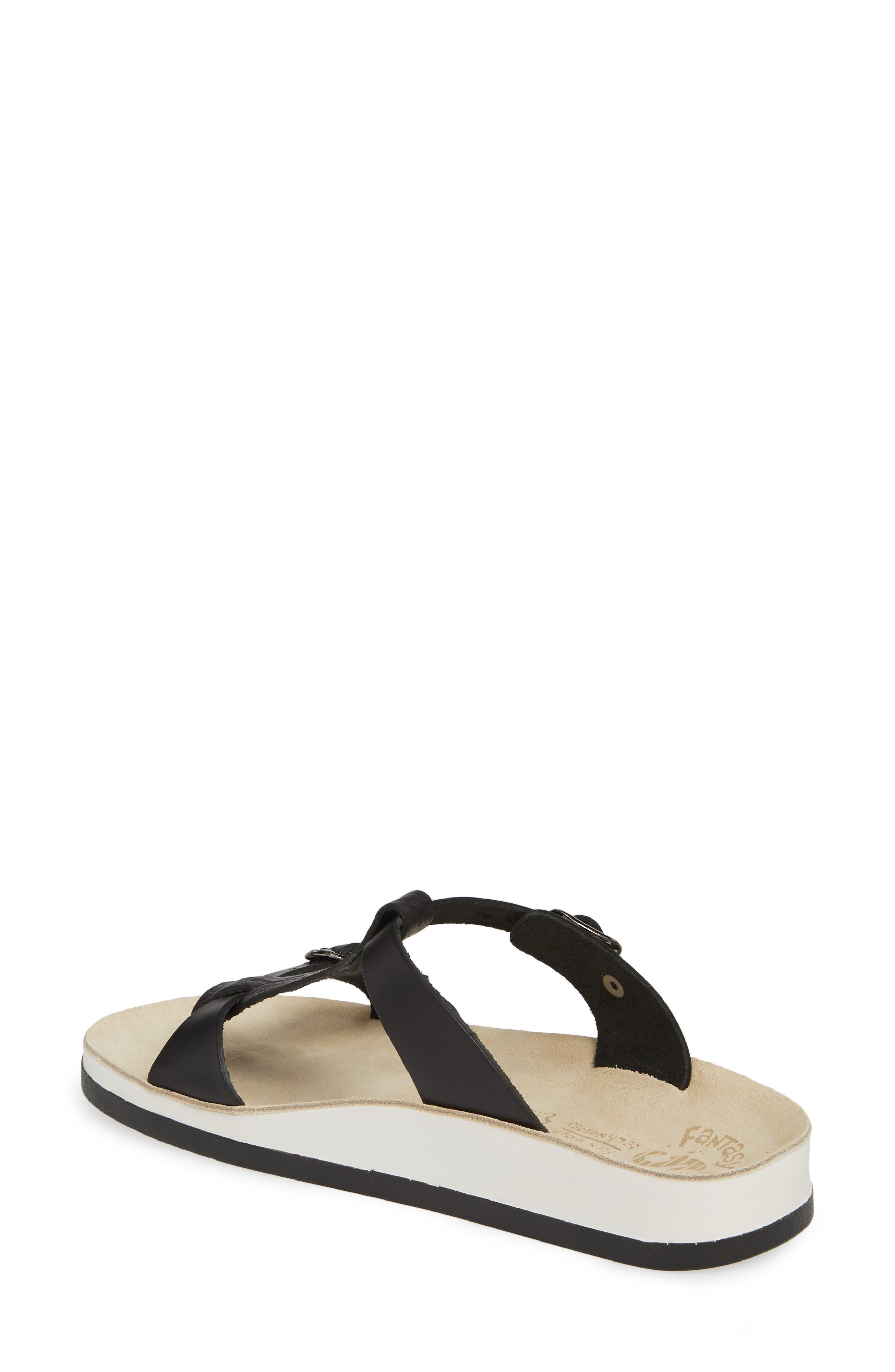 Jessamine T-Strap Sandal,                             Alternate thumbnail 2, color,                             Black Volcano Leather