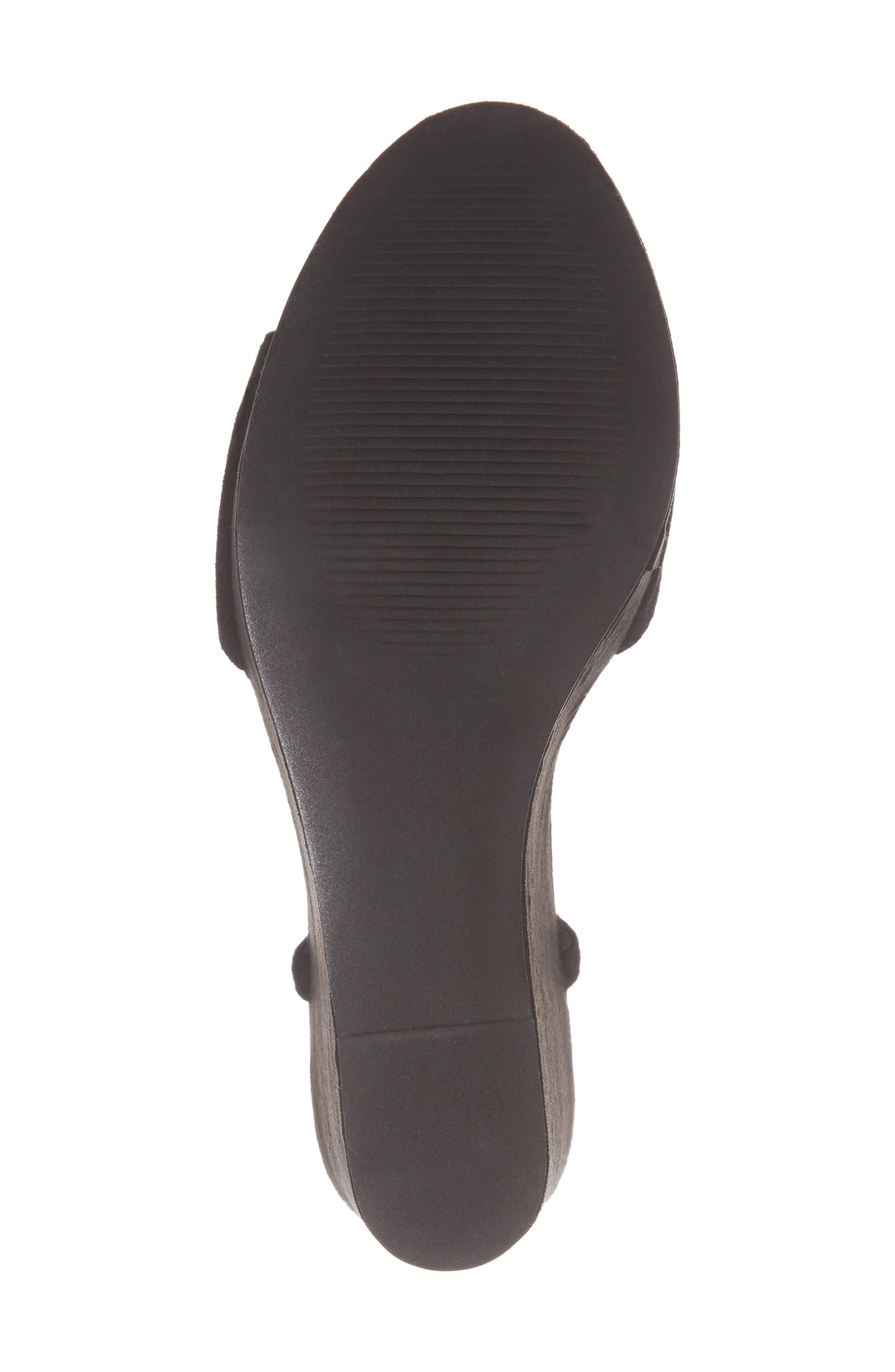 Truce Wedge Sandal,                             Alternate thumbnail 6, color,                             Black Suede
