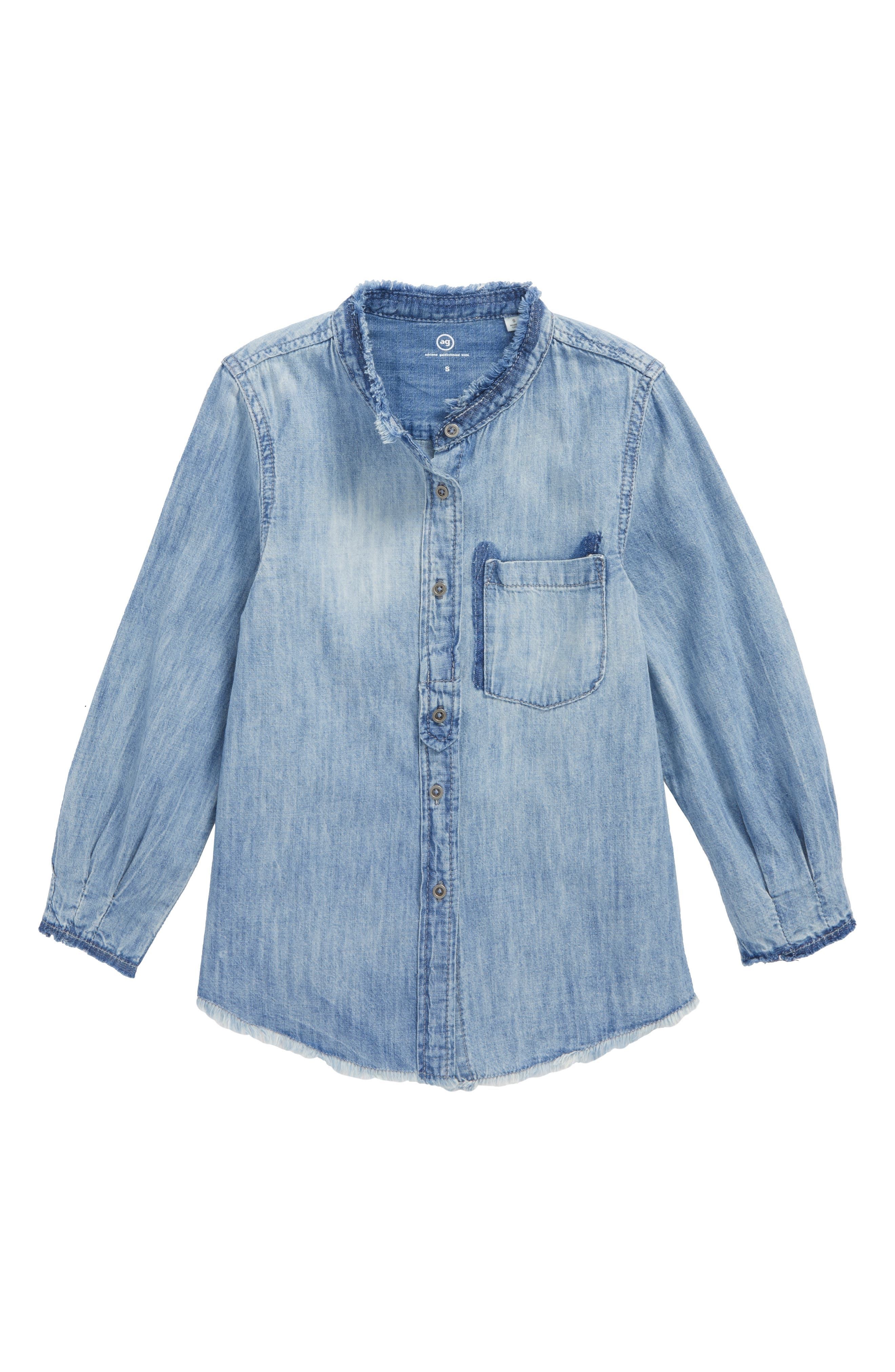 Alternate Image 1 Selected - ag adriano goldschmied kids Madison Chambray Shirt (Big Girls)