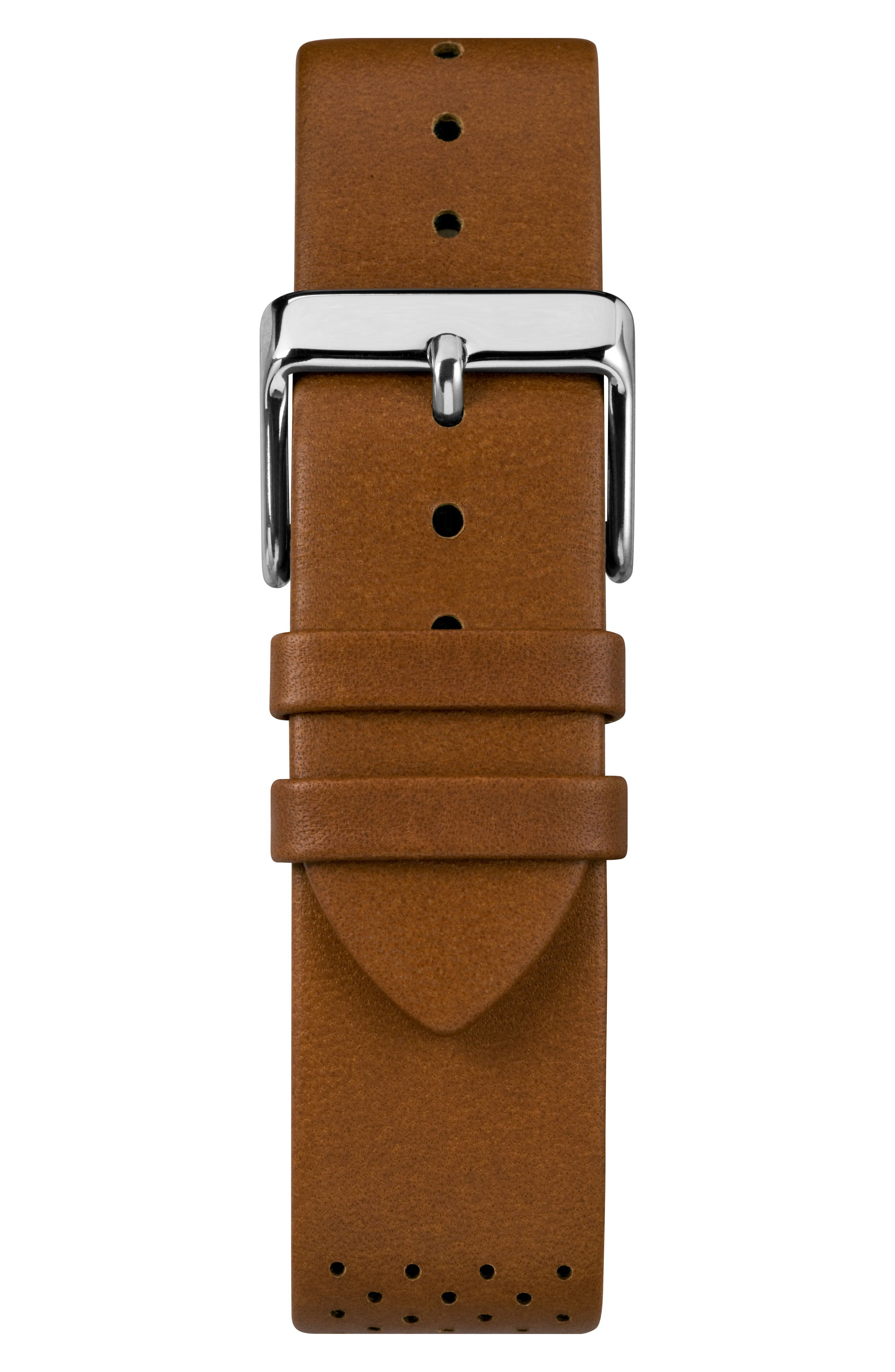 Fairfield Chronograph Leather Strap Watch, 41mm,                             Alternate thumbnail 2, color,                             Beige/ Silver