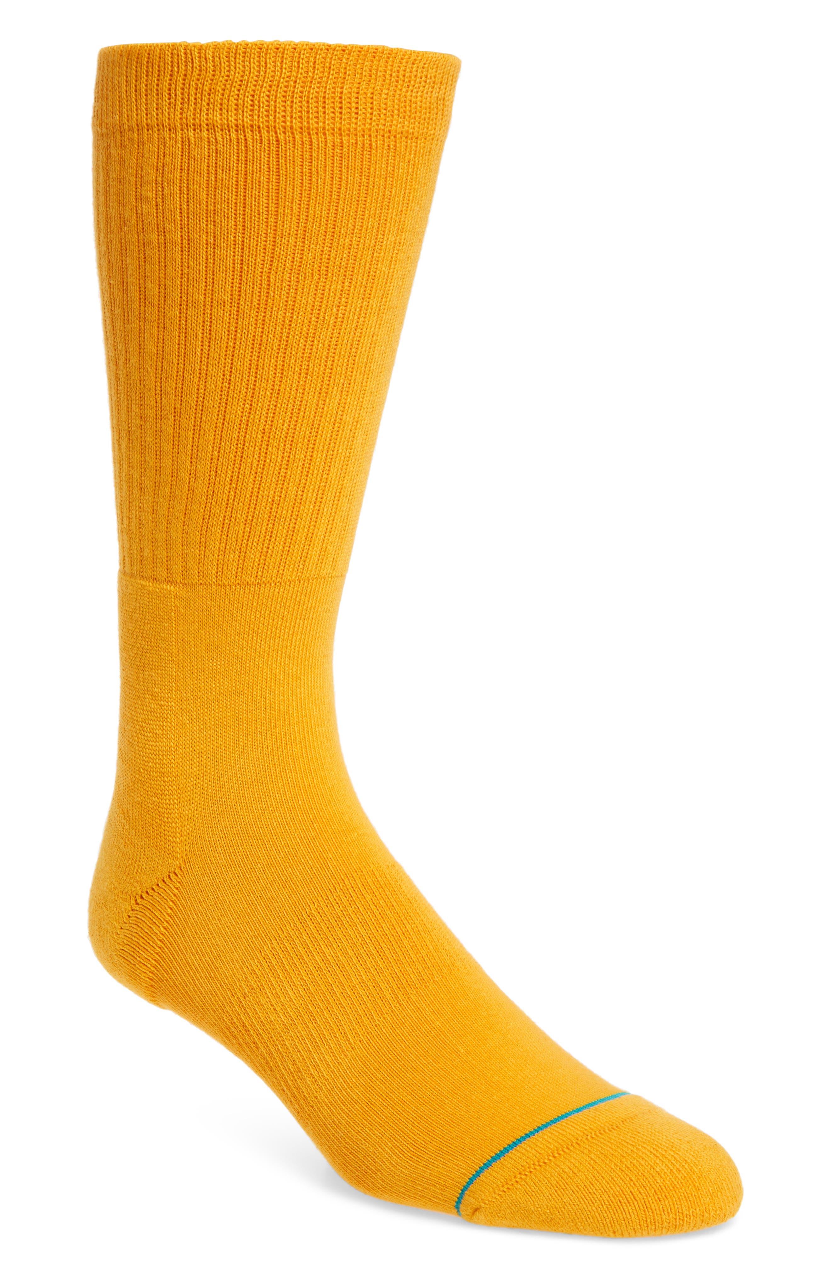 'Icon' Crew Socks,                             Main thumbnail 1, color,                             Gold