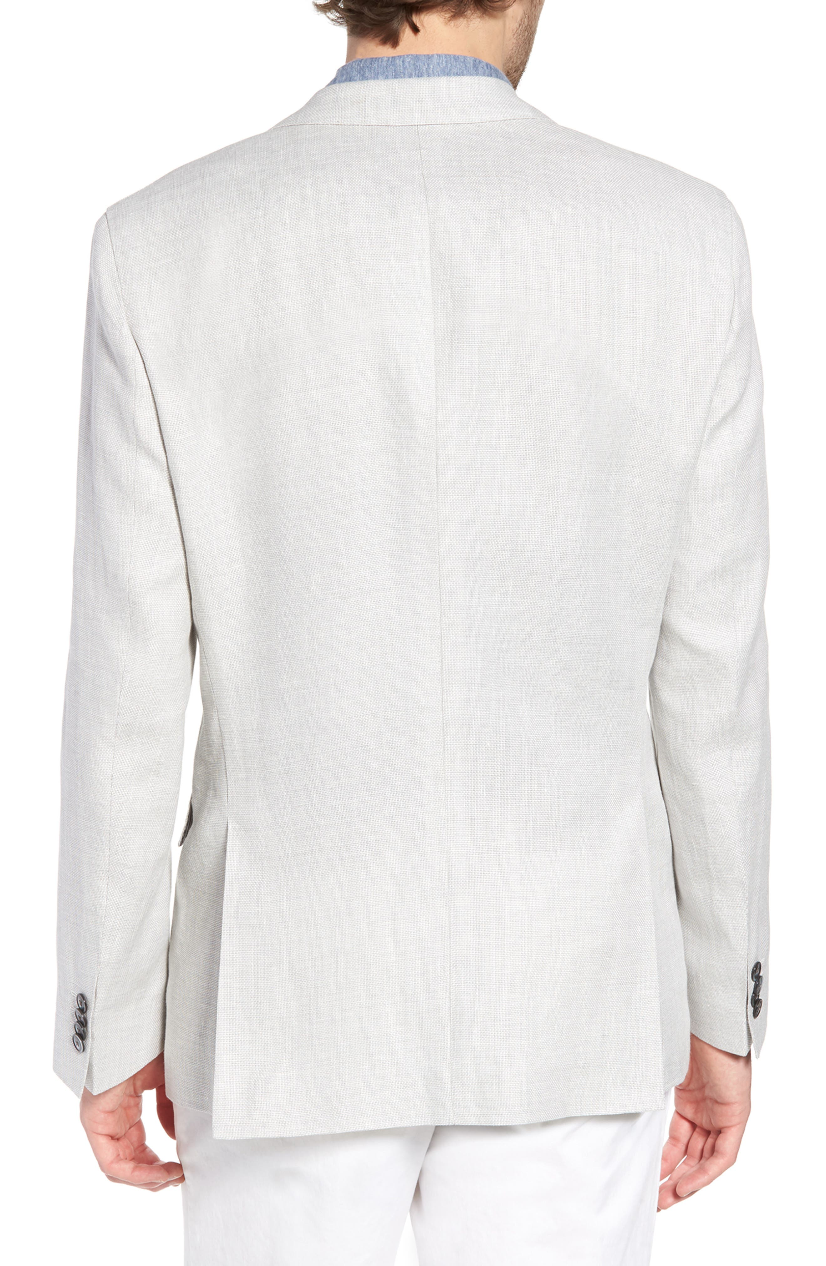 Hartlay Trim Fit Linen Blend Blazer,                             Alternate thumbnail 2, color,                             Silver Grey