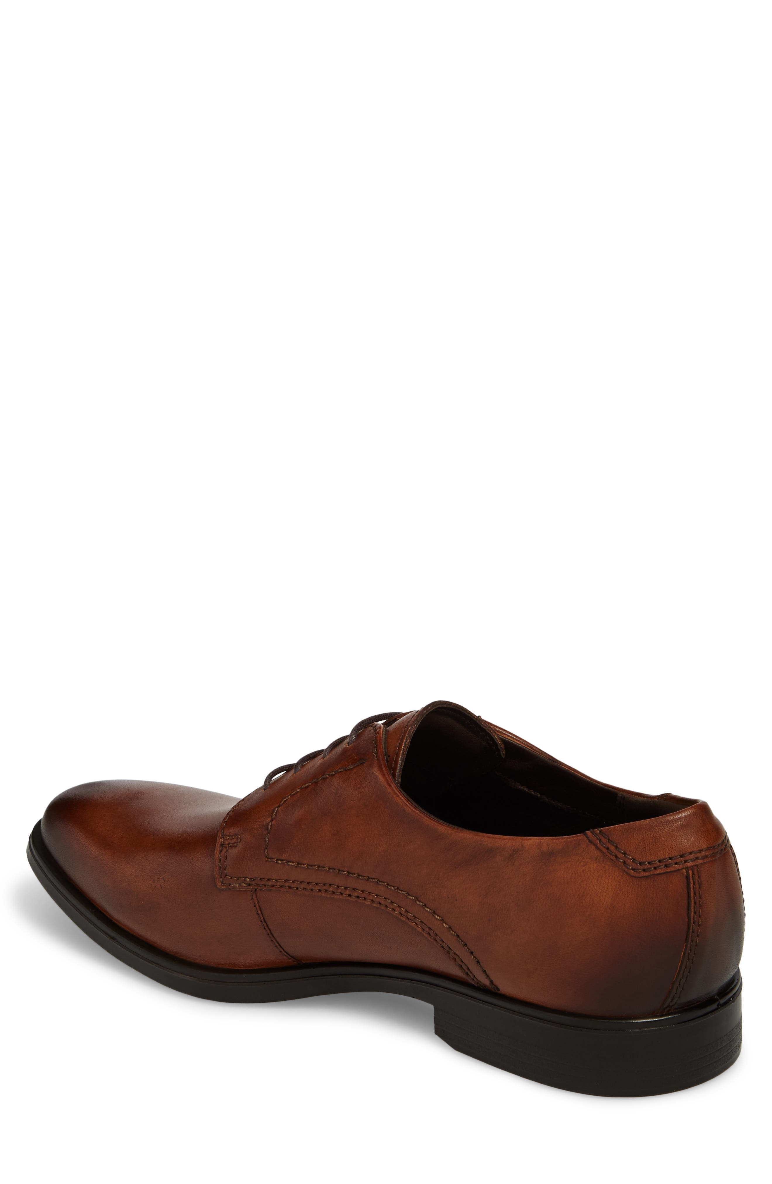 Melbourne Plain Toe Derby,                             Alternate thumbnail 2, color,                             Amber Leather