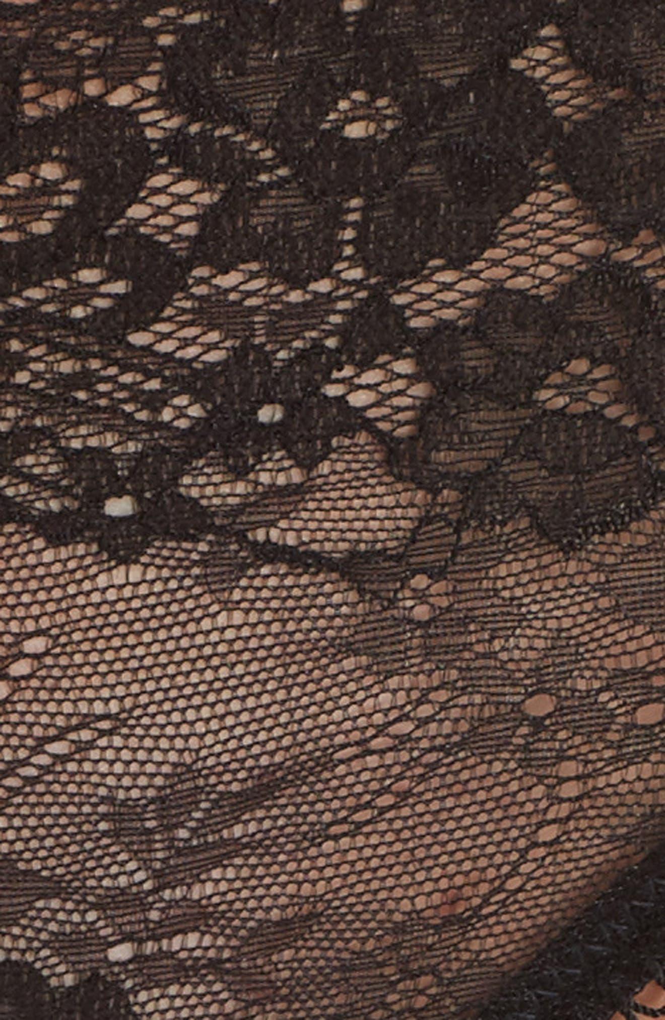 Lace Cheeky Panties,                             Alternate thumbnail 7, color,                             Black