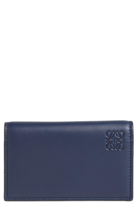 Loewe Calfskin Leather Business Card Case | Nordstrom
