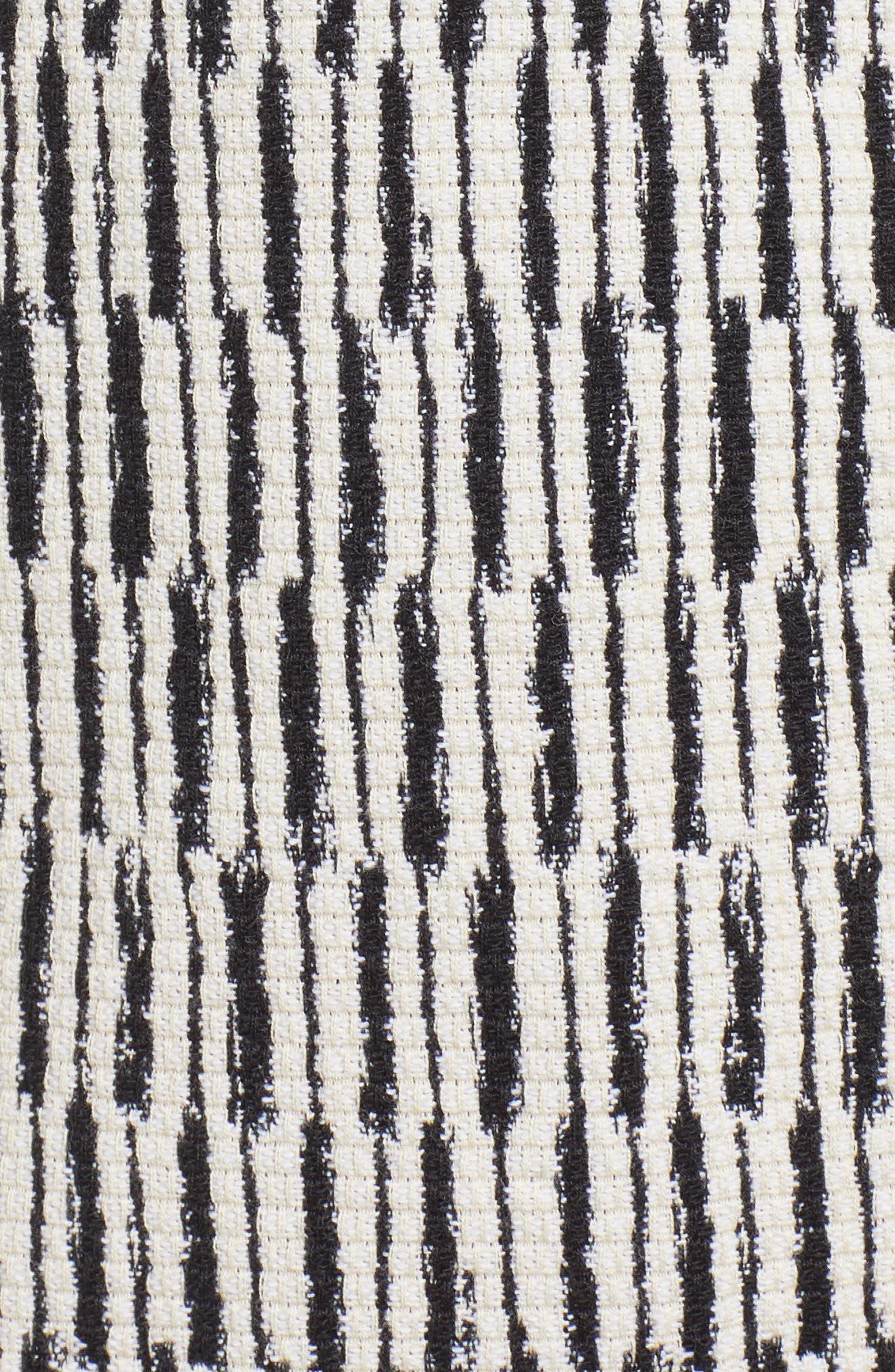 Tweed Jacket,                             Alternate thumbnail 6, color,                             Black/ White