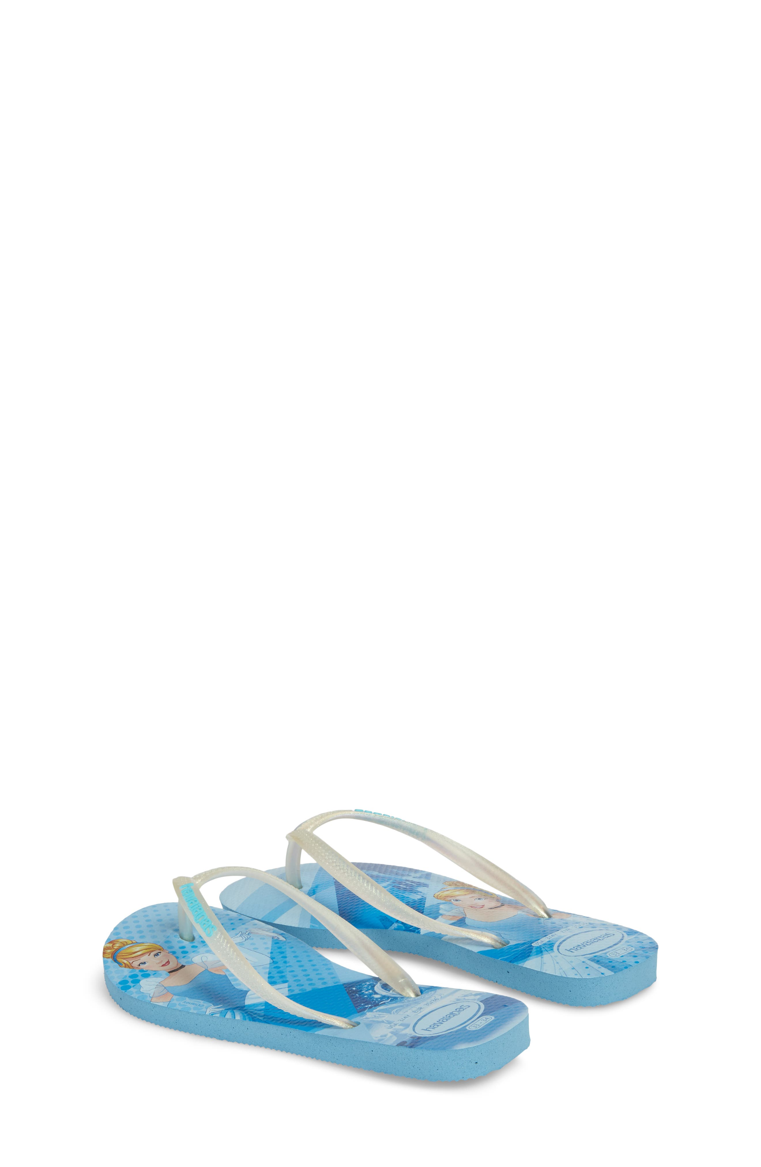 'Disney Princess' Flip Flops,                             Alternate thumbnail 2, color,                             Blue Splash