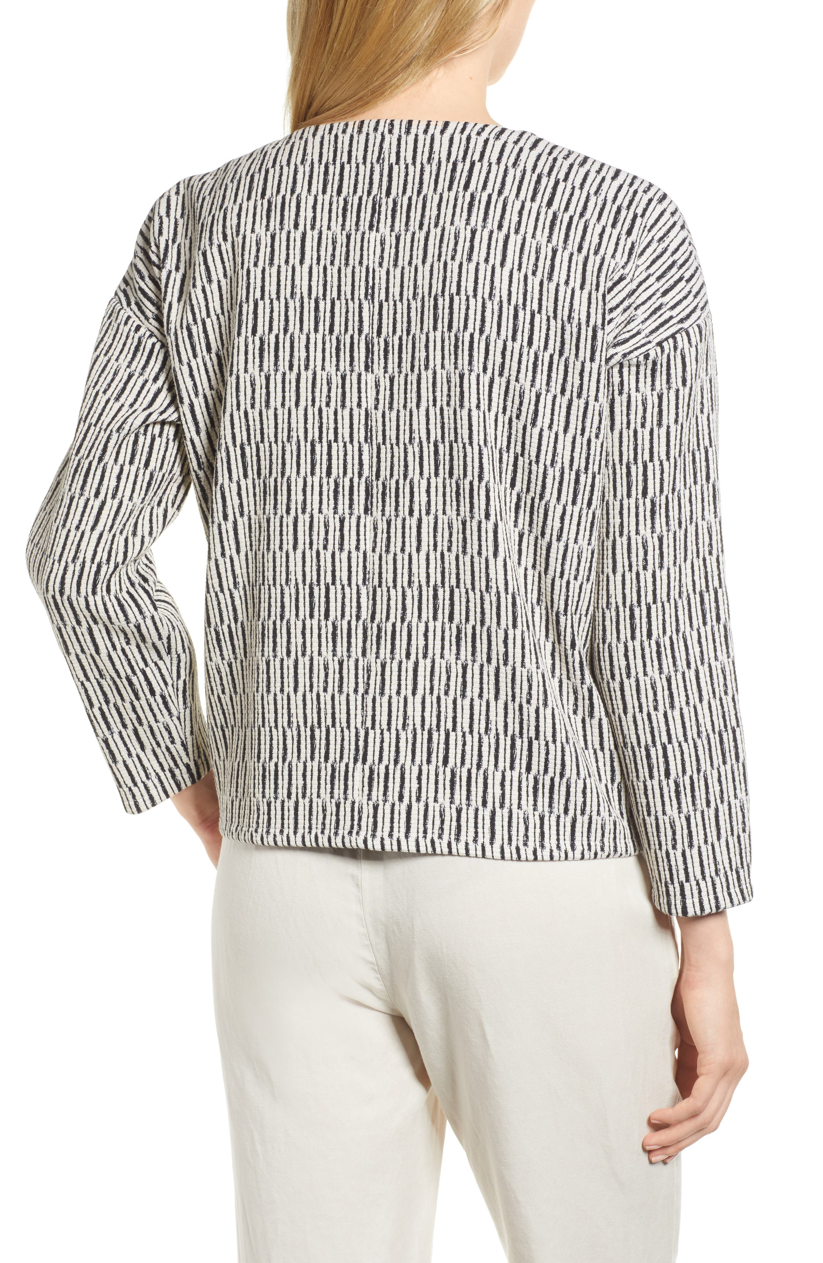 Tweed Jacket,                             Alternate thumbnail 2, color,                             Black/ White