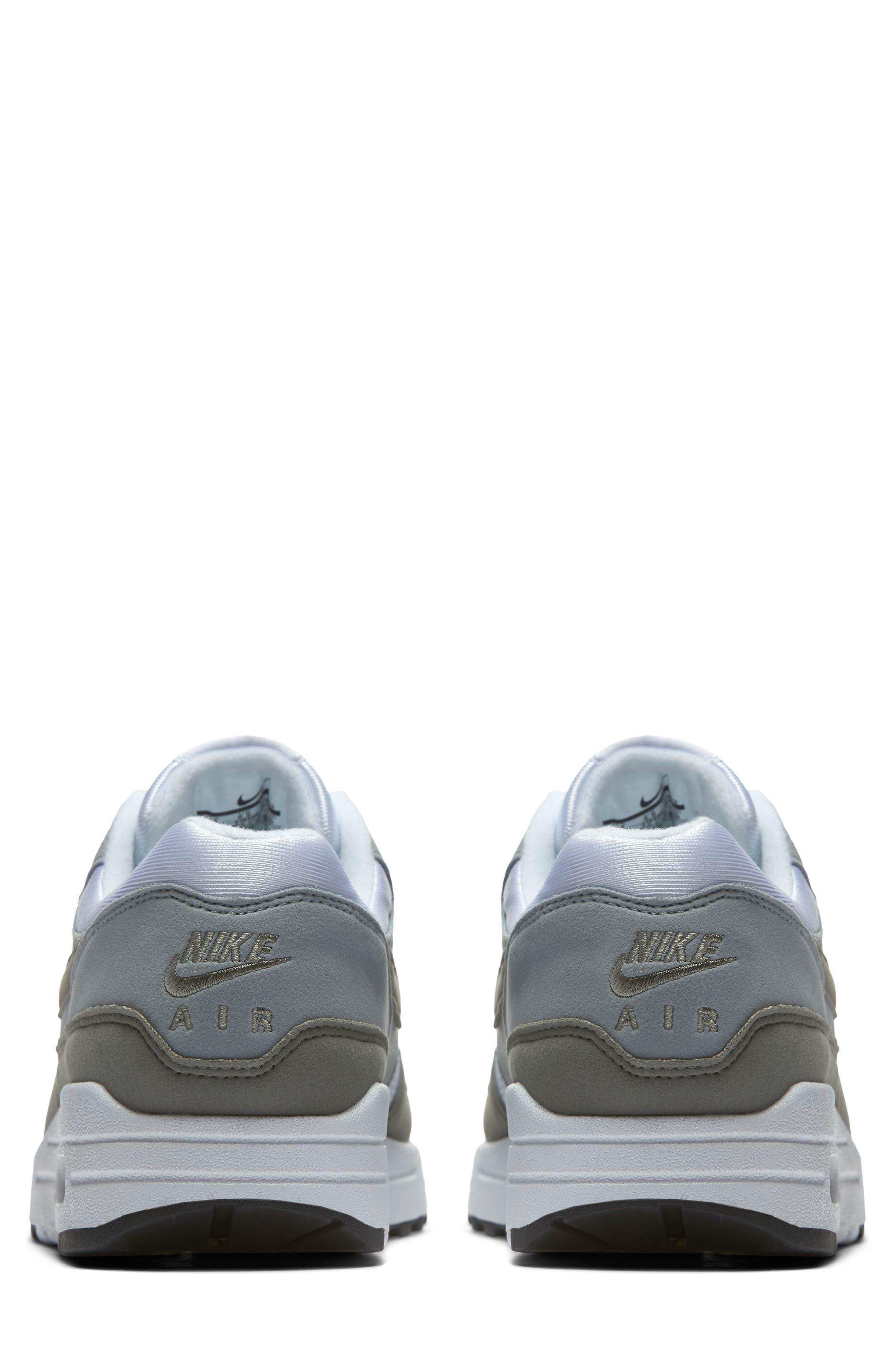 Air Max 1 Sneaker,                             Alternate thumbnail 2, color,                             White/ Dark Stucco