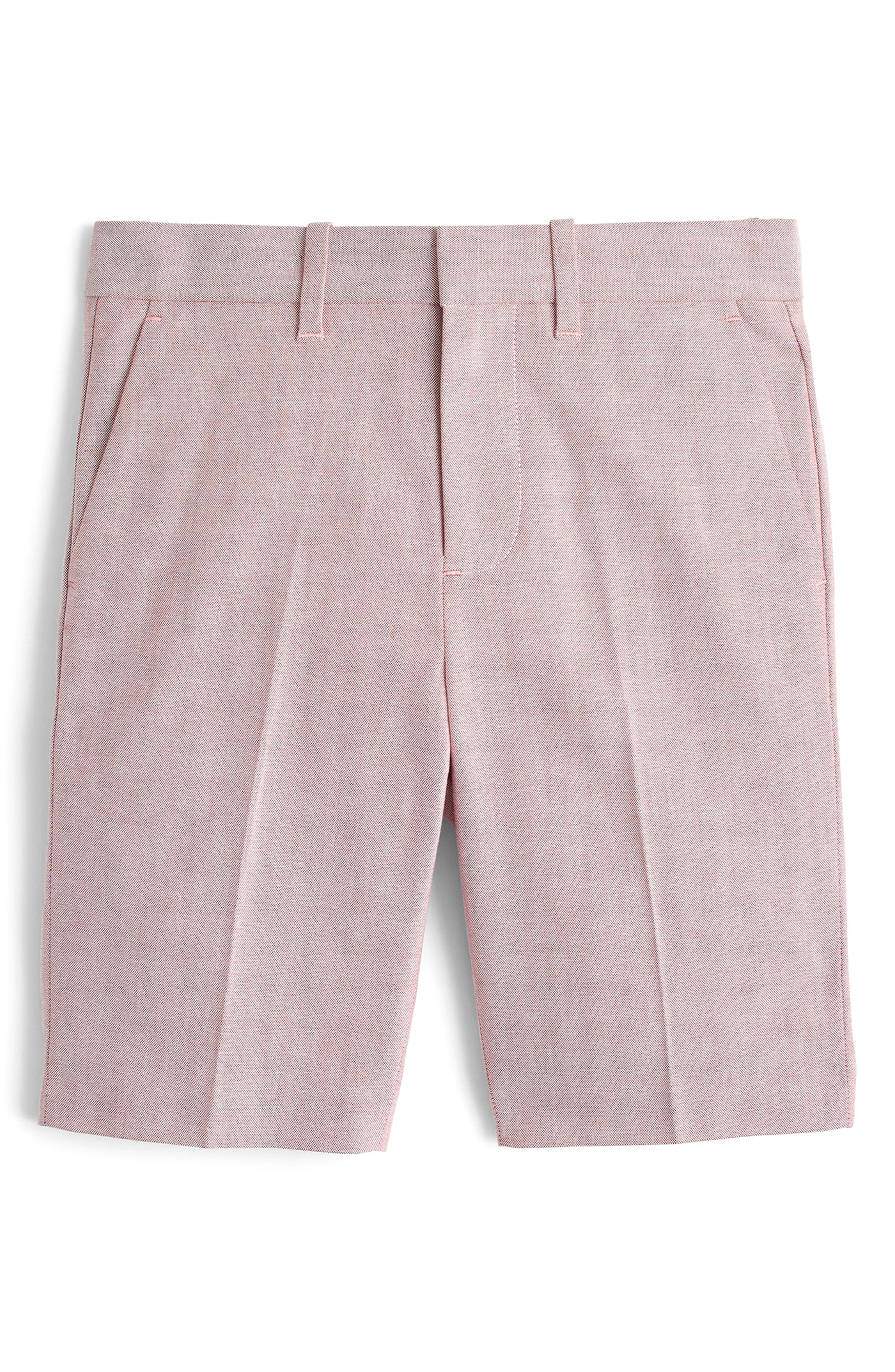 Ludlow Stretch Oxford Suit Shorts,                         Main,                         color, Light Red