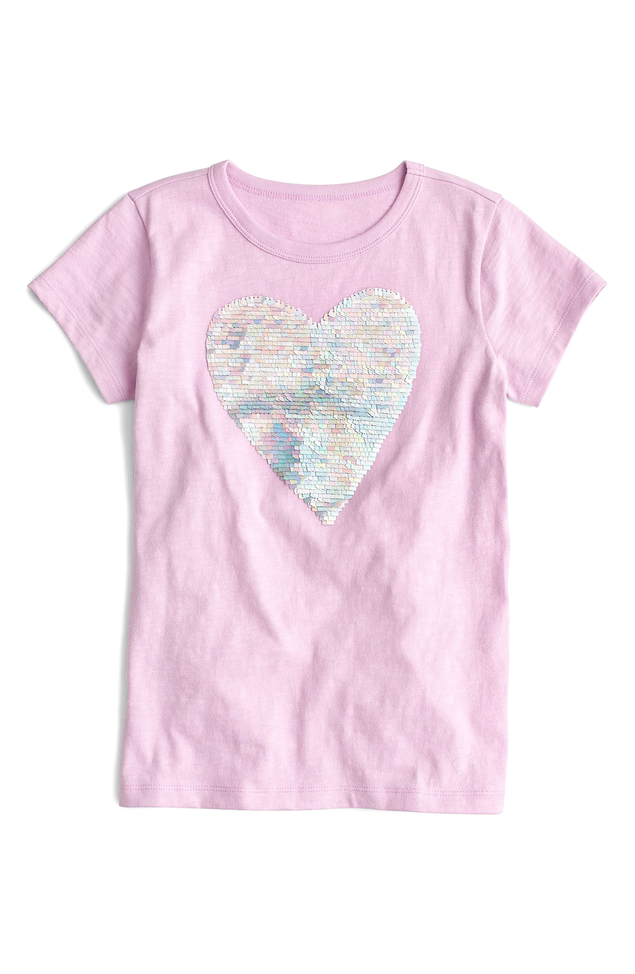 Sparkle Heart Tee,                         Main,                         color, Frosted Lilac