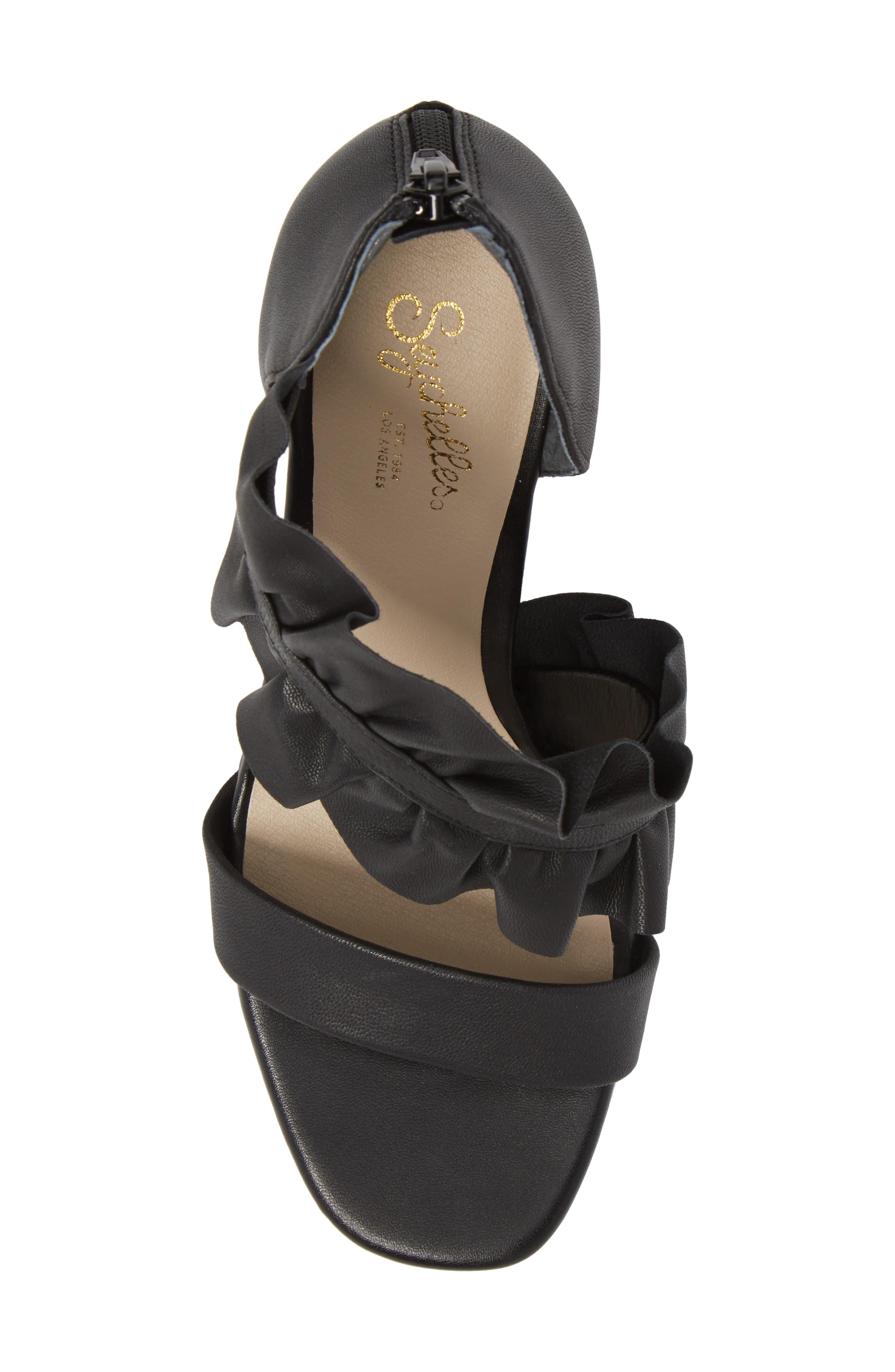 To-Do List Sandal,                             Alternate thumbnail 5, color,                             Black Leather