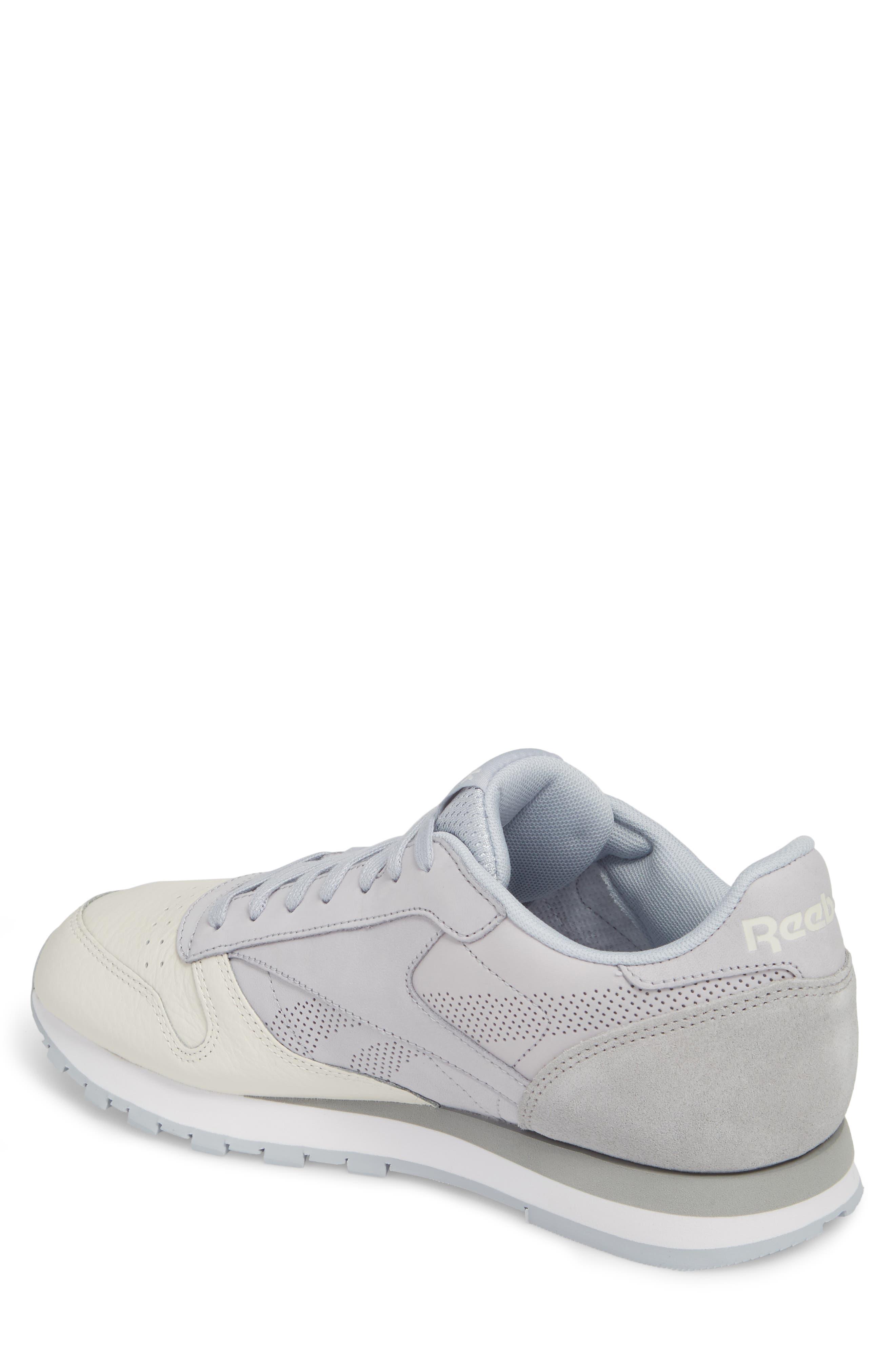 Classic Leather UE Sneaker,                             Alternate thumbnail 2, color,                             Grey/ Chalk/ Stark Grey/ White