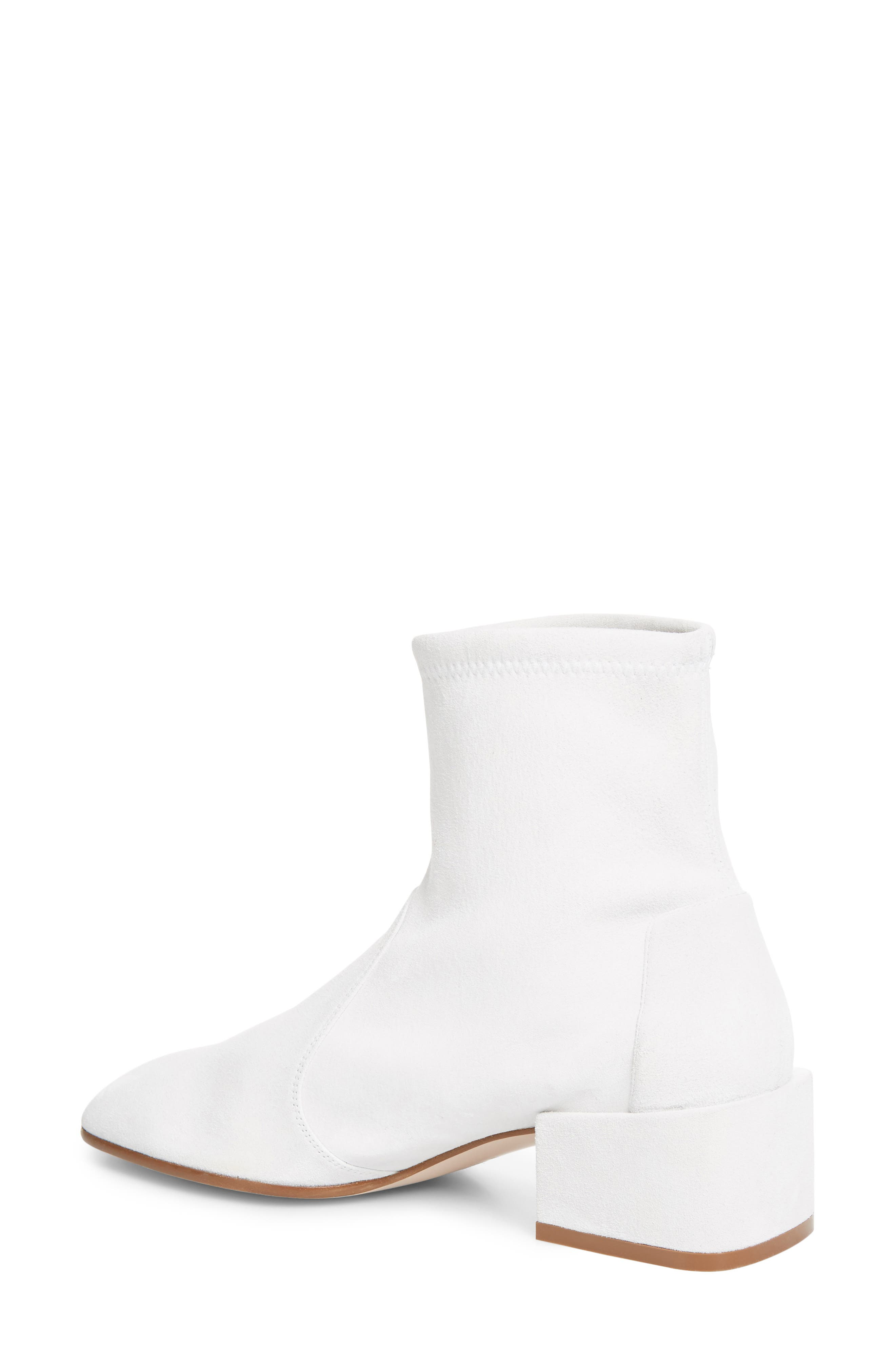 Accordion Bootie,                             Alternate thumbnail 2, color,                             Off White Seda Suede