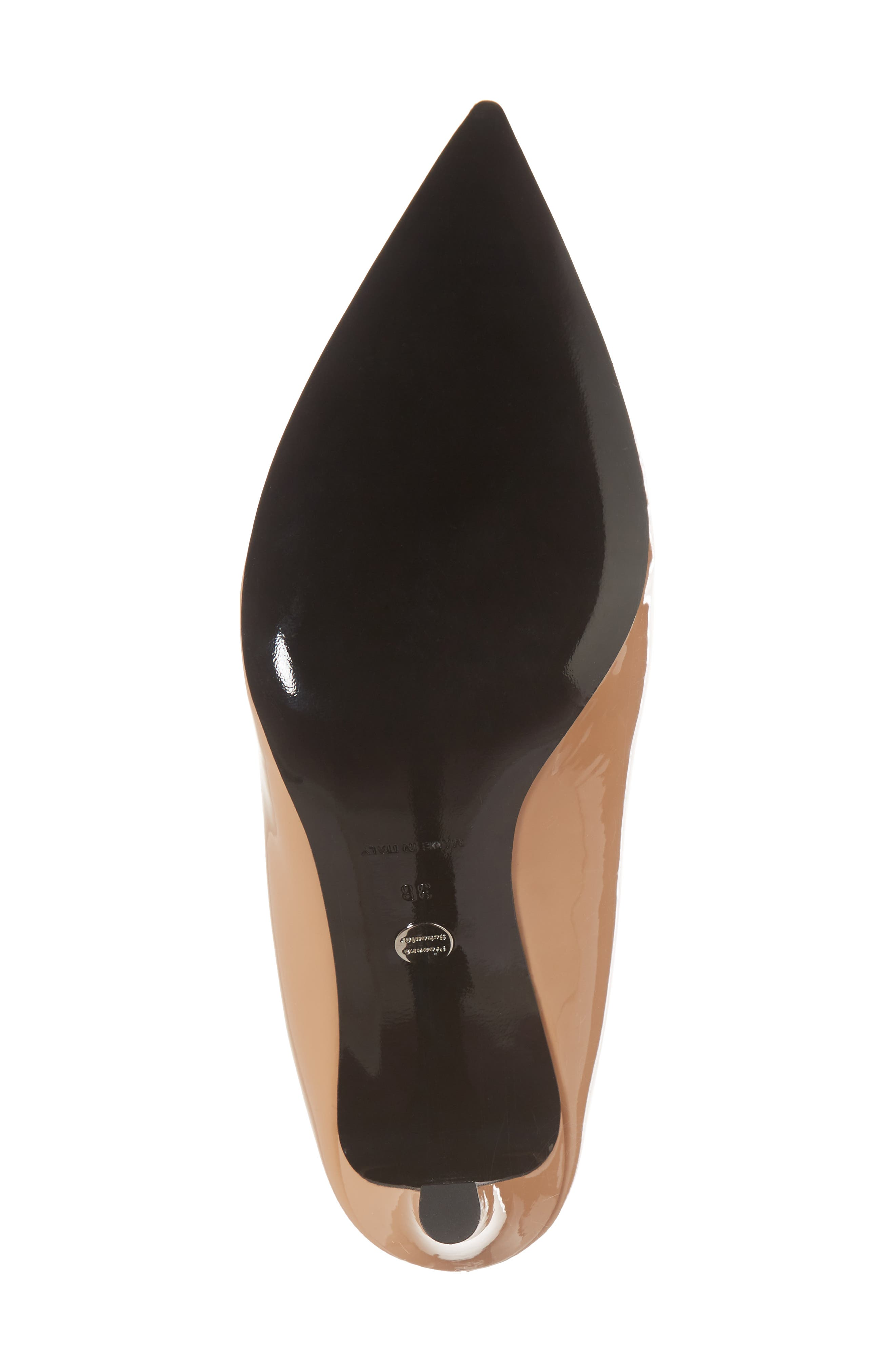 Wave Slingback Pump,                             Alternate thumbnail 6, color,                             Nude
