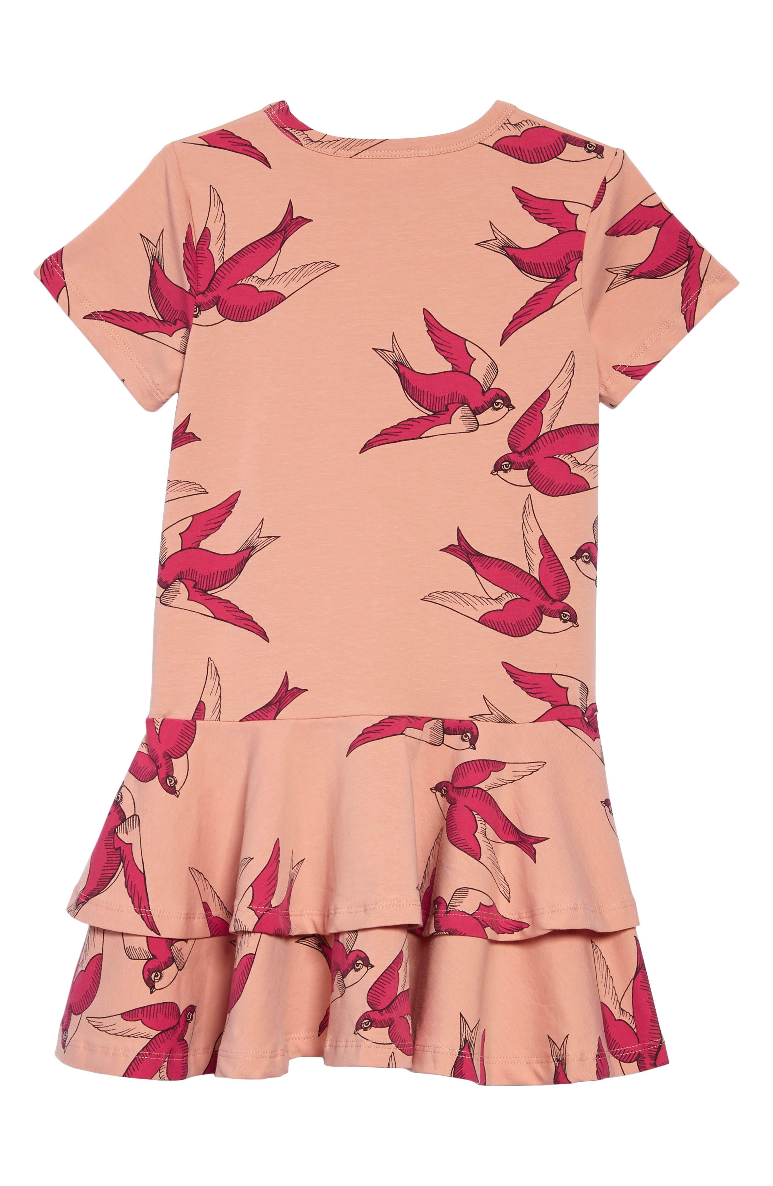Alternate Image 2  - Mini Rodini Swallows Frill Dress (Toddler Girls & Little Girls)