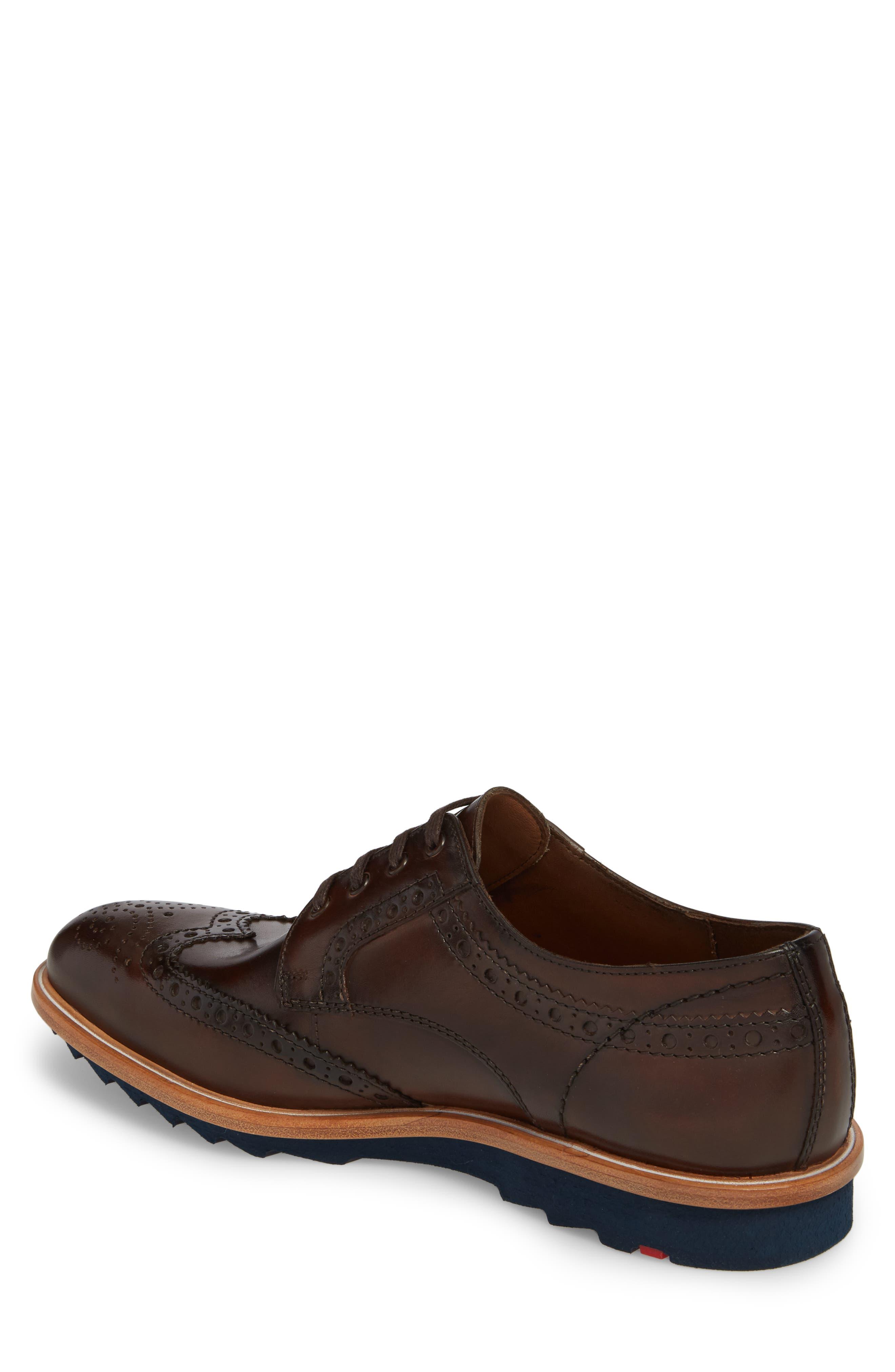 Fairbanks Wingtip,                             Alternate thumbnail 2, color,                             Brown Leather