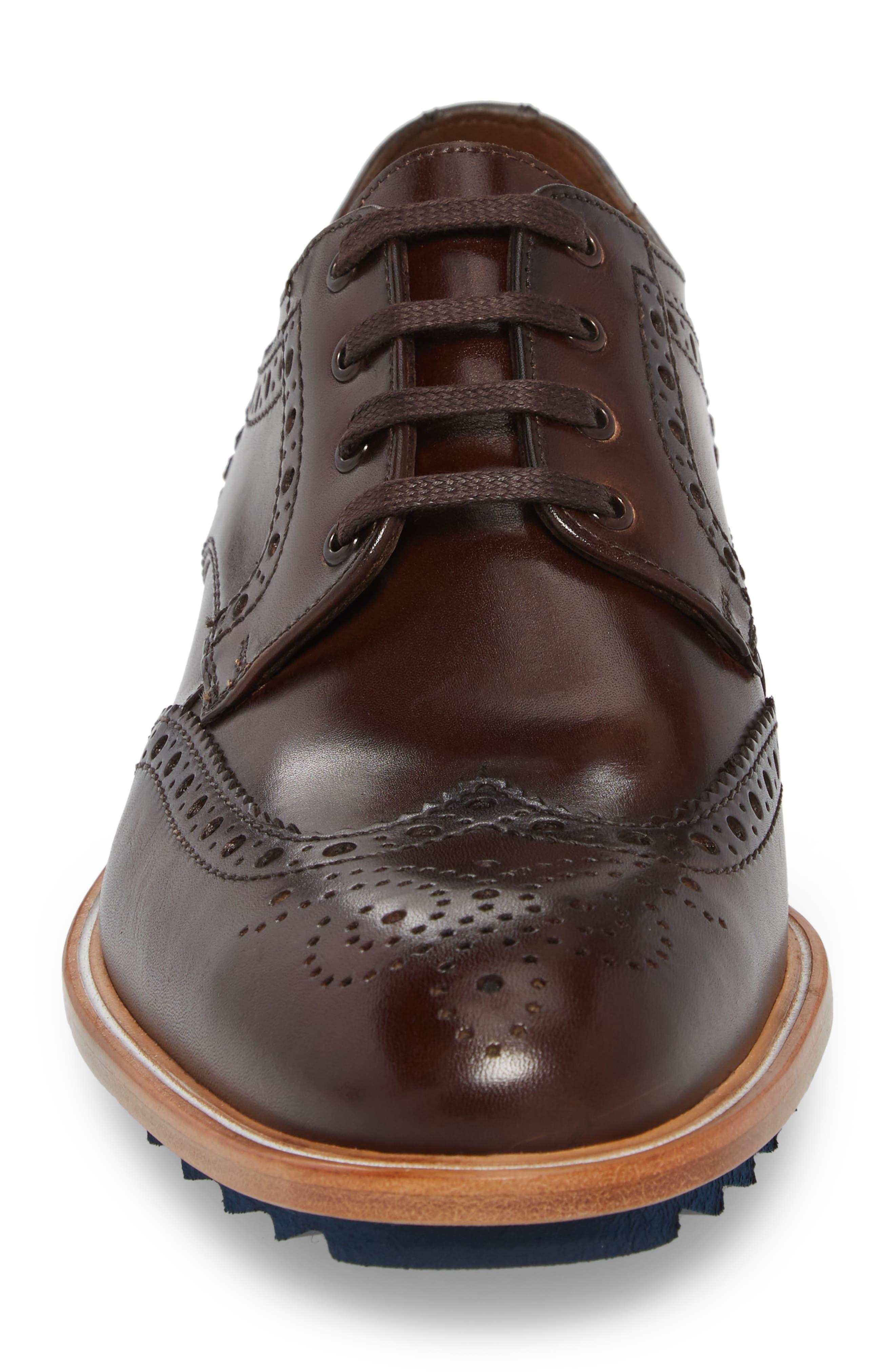 Fairbanks Wingtip,                             Alternate thumbnail 4, color,                             Brown Leather