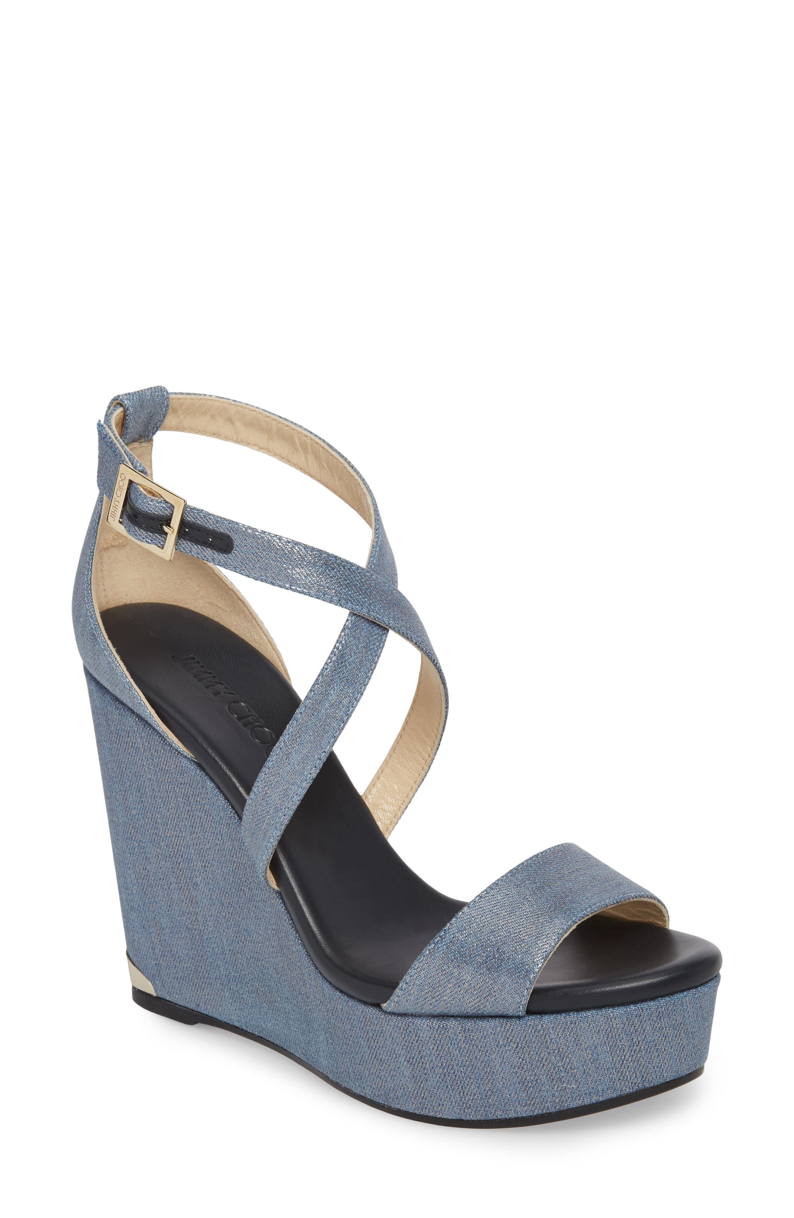 Portia Platform Wedge Sandal,                         Main,                         color, Dusk Blue