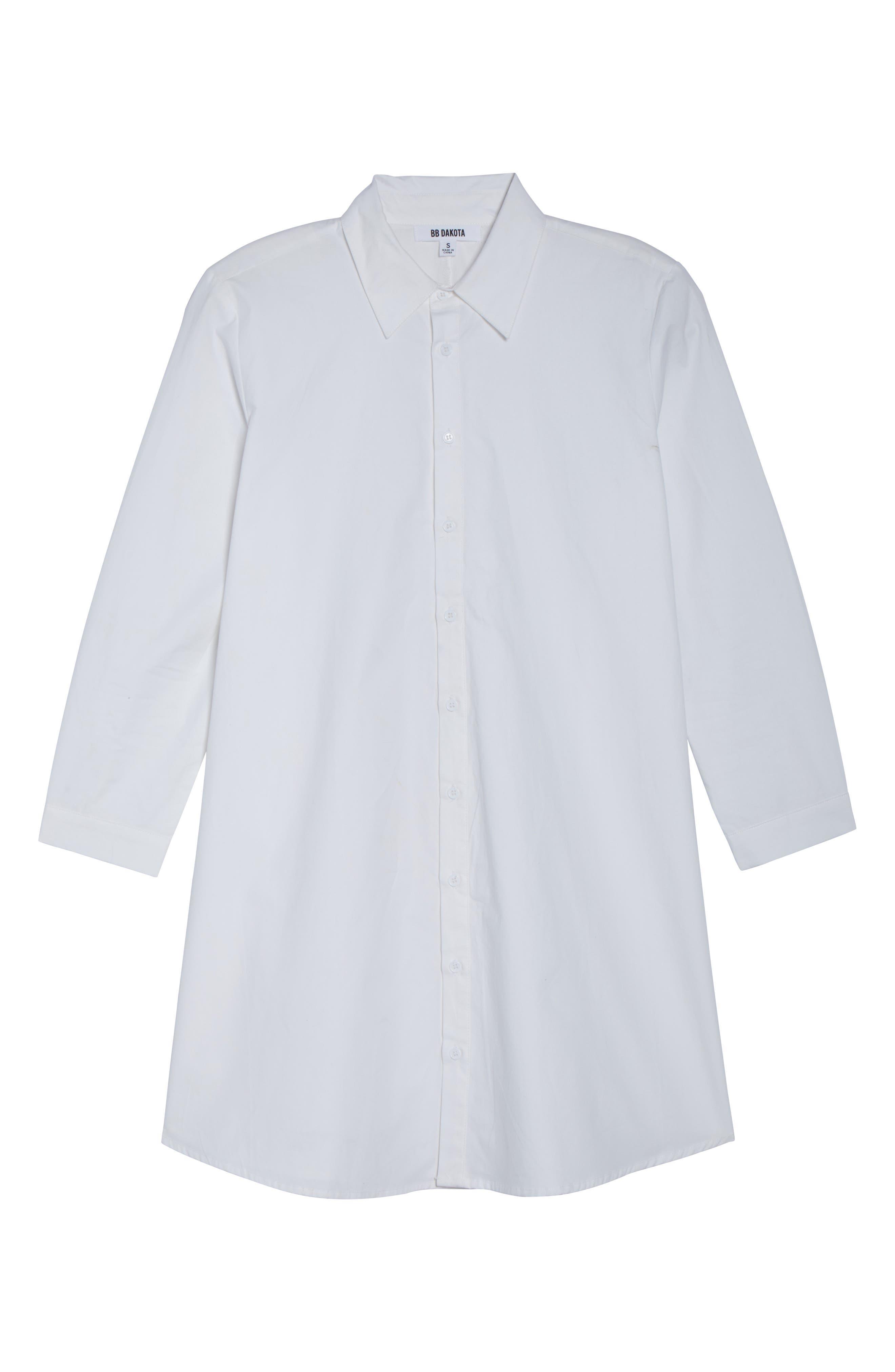 Colt Cotton Poplin Shirtdress,                             Alternate thumbnail 6, color,                             Optic White