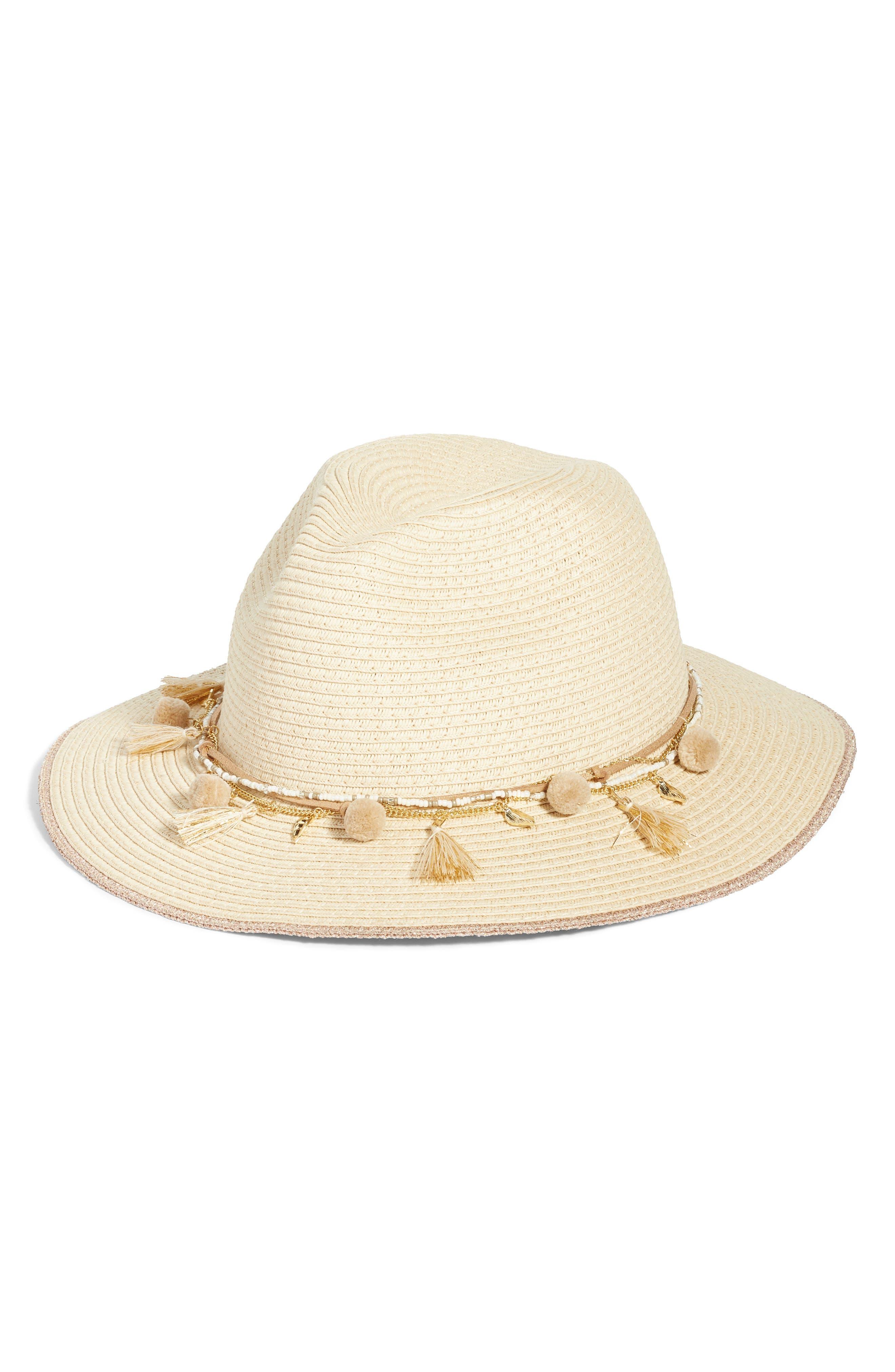 Corella Panama Hat,                             Main thumbnail 1, color,                             White