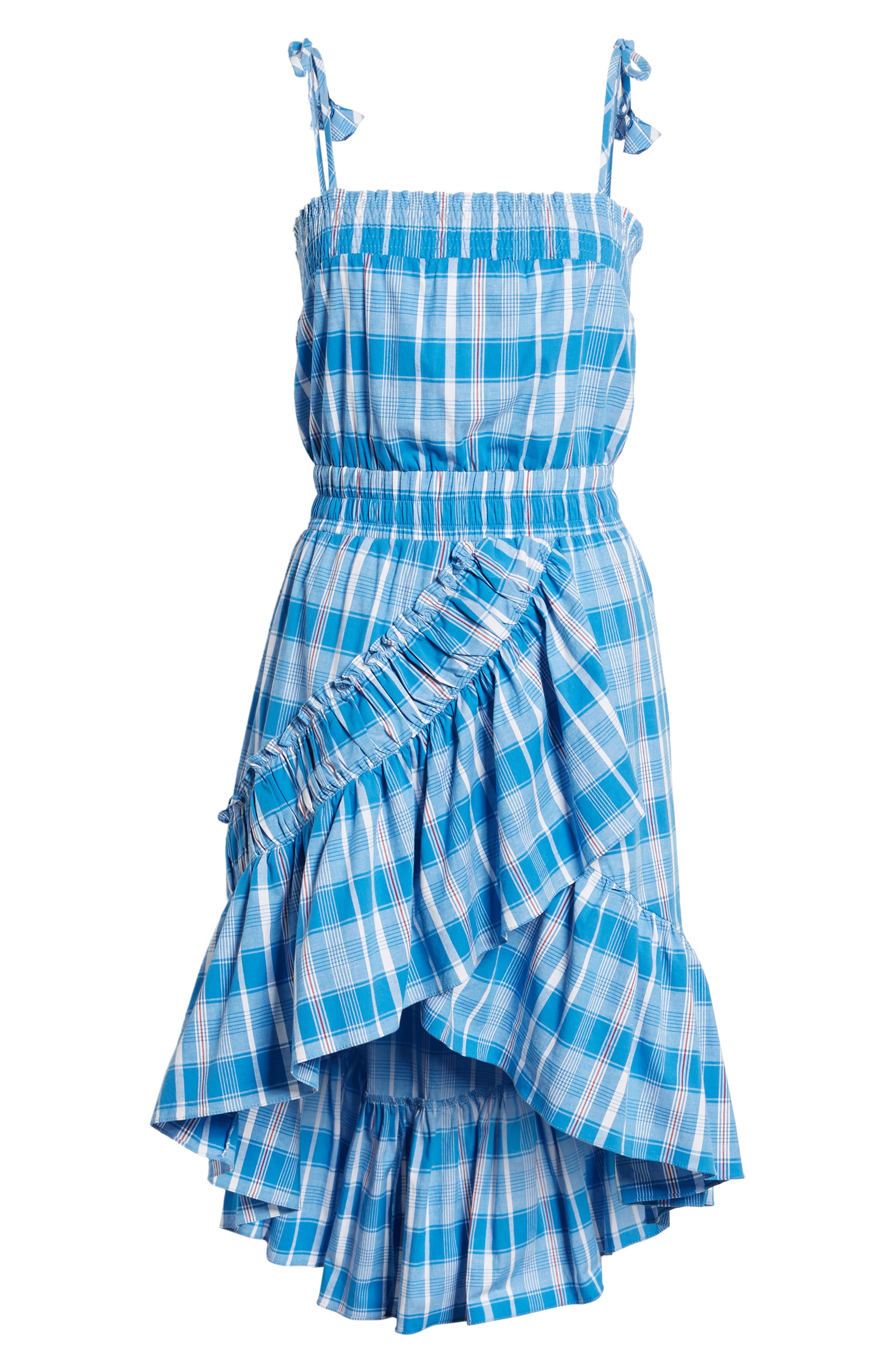 Fernanda High/Low Dress,                             Alternate thumbnail 6, color,                             Blue Fe1