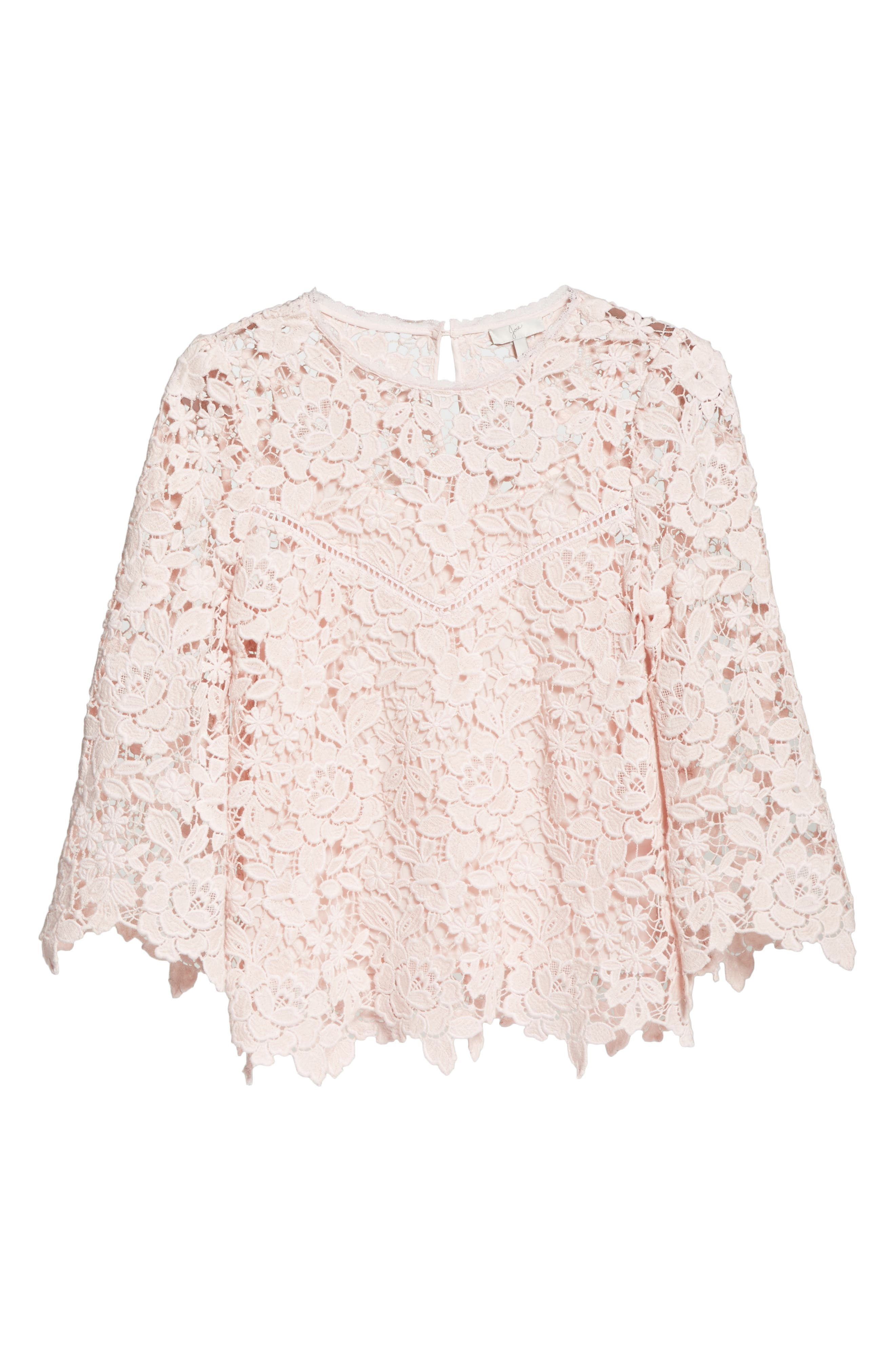 Charnette Lace Top,                             Alternate thumbnail 6, color,                             Rosewater