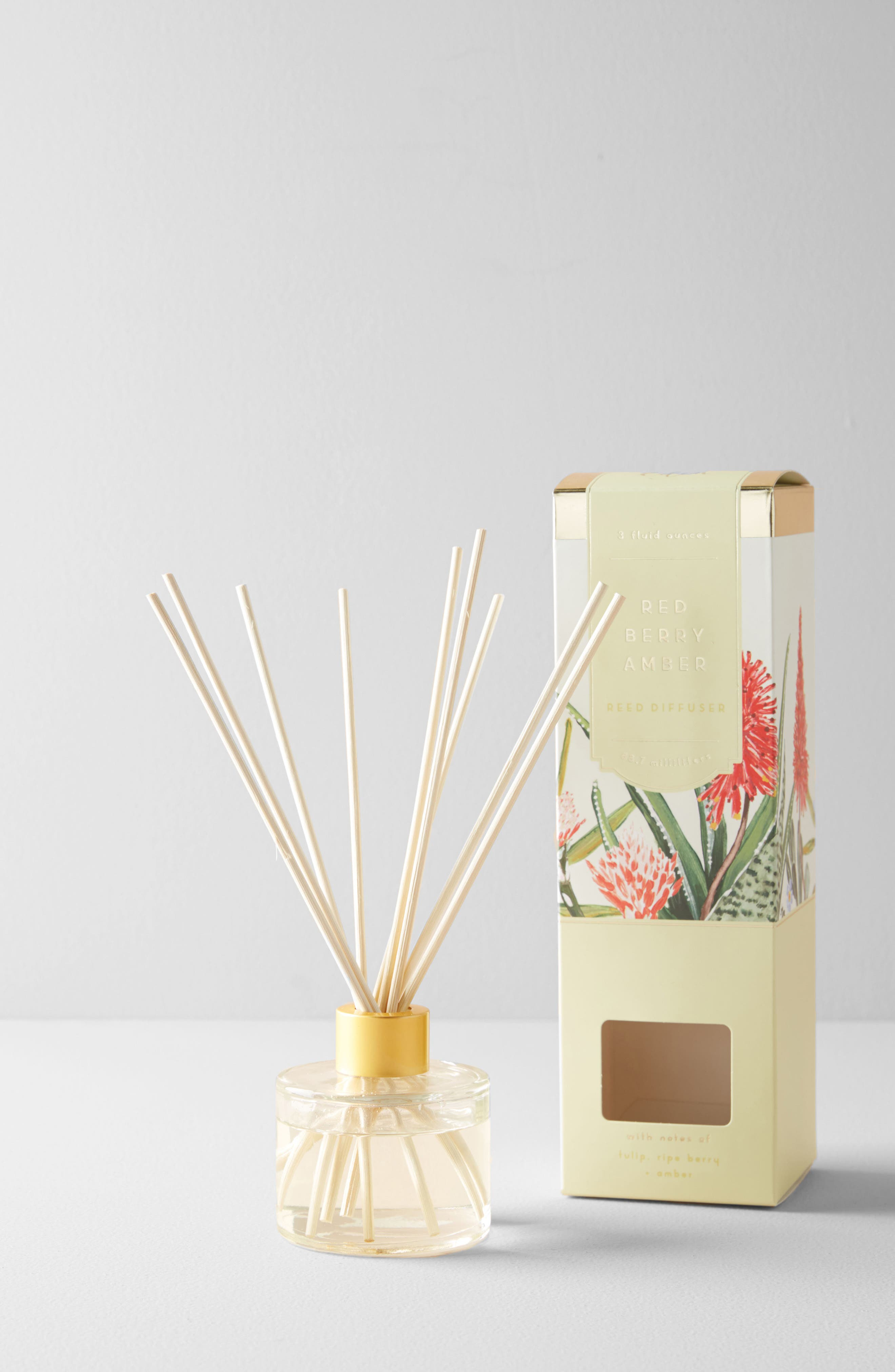 Spring's Eden Reed Diffuser,                             Main thumbnail 1, color,                             Red Berry Amber