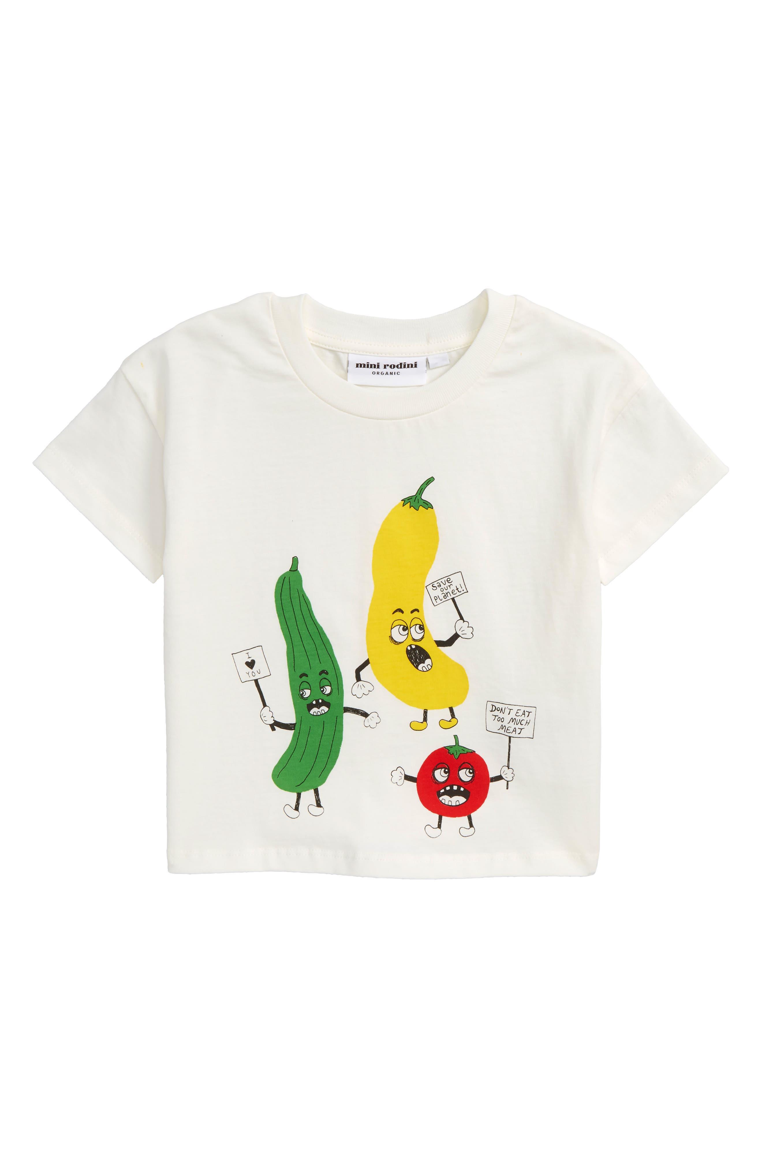Veggie Organic Cotton T-Shirt,                         Main,                         color, White