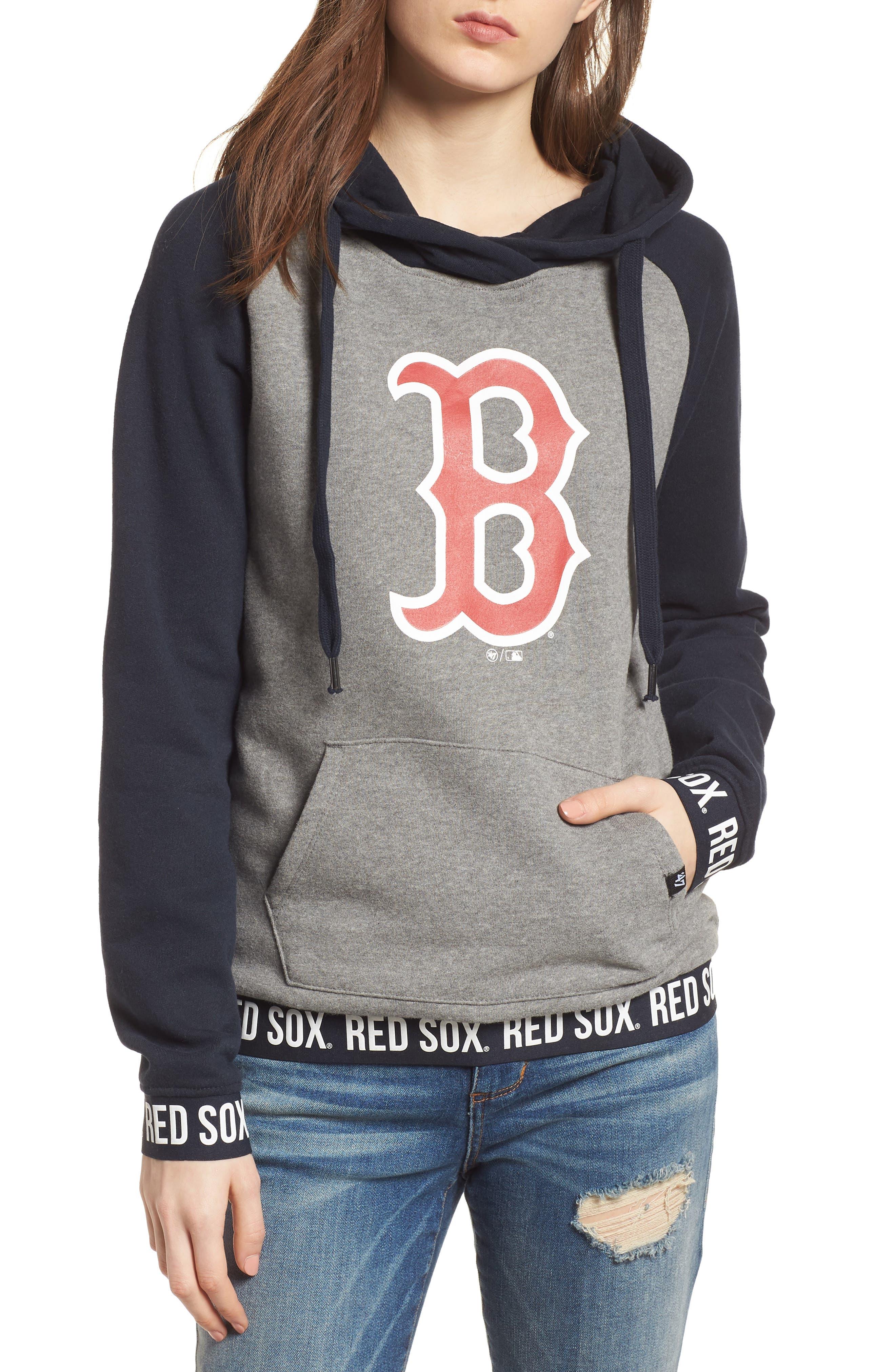 Encore Revolve Boston Red Sox Hoodie,                             Main thumbnail 1, color,                             Vintage Grey