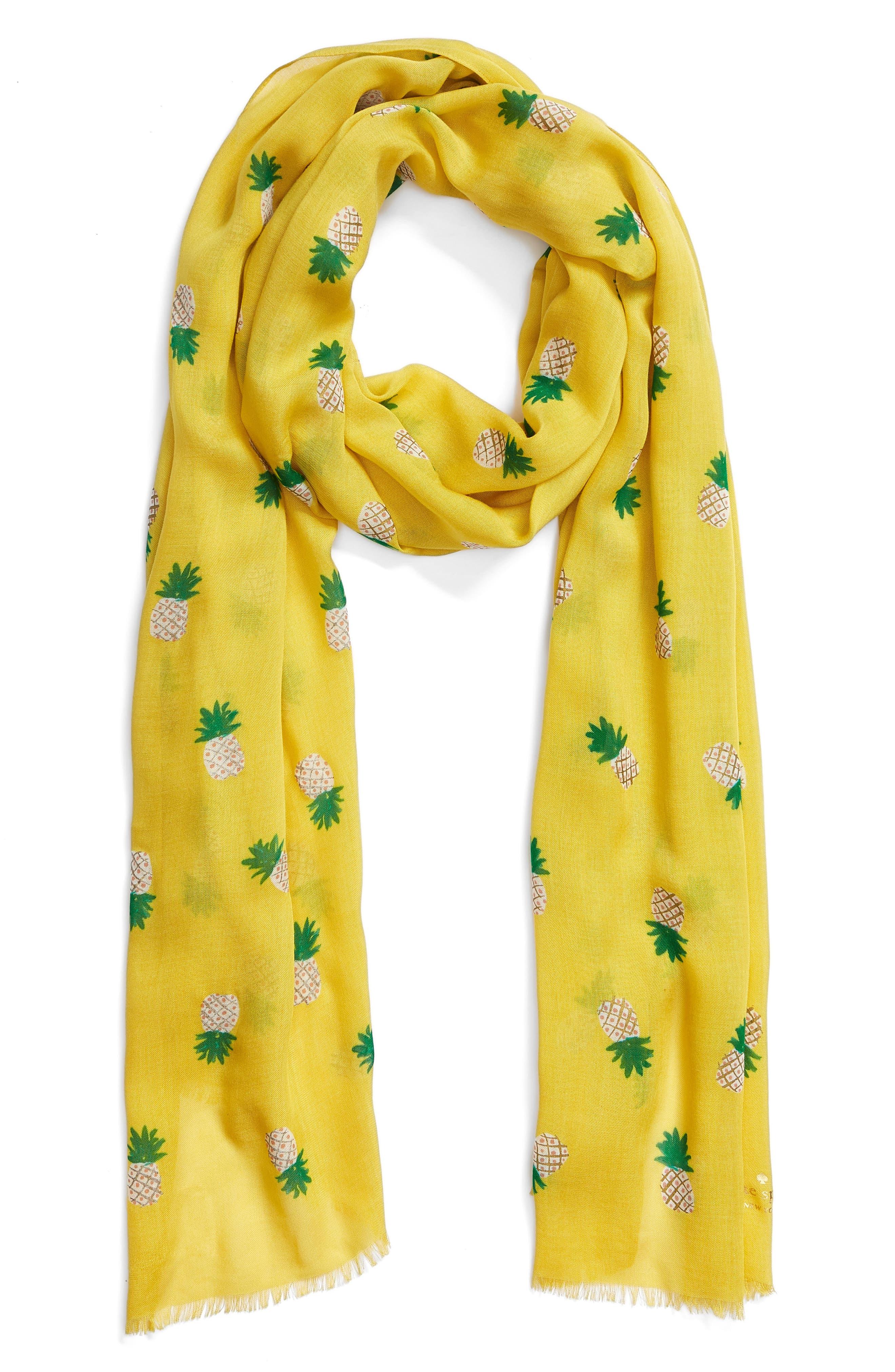 pineapple scarf,                             Alternate thumbnail 2, color,                             Bamboo Shoot
