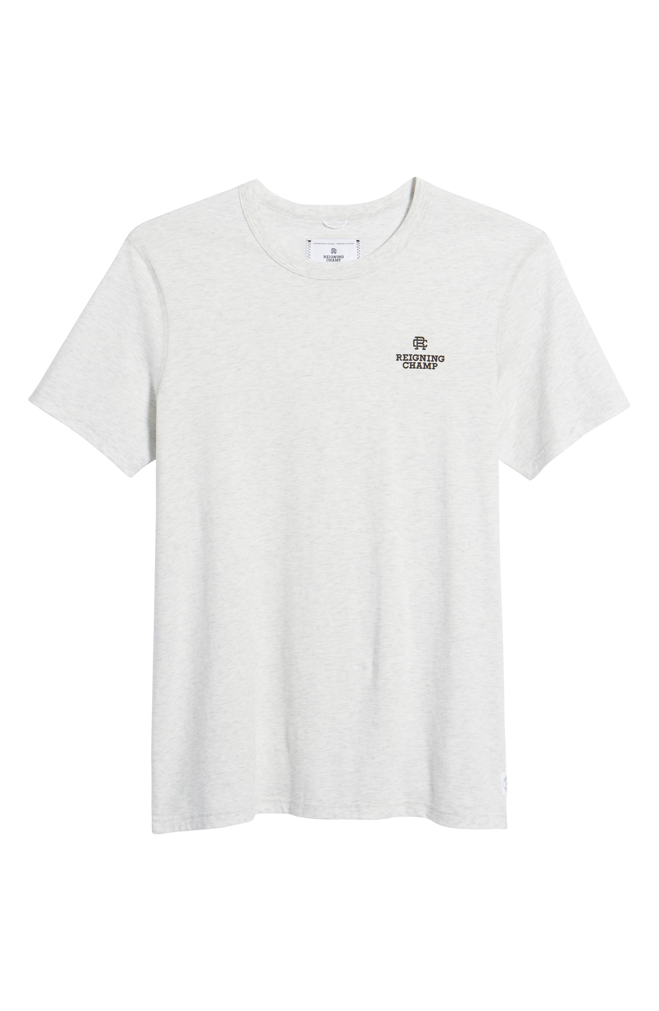 Logo T-Shirt,                             Alternate thumbnail 6, color,                             Heather Ash/ Black
