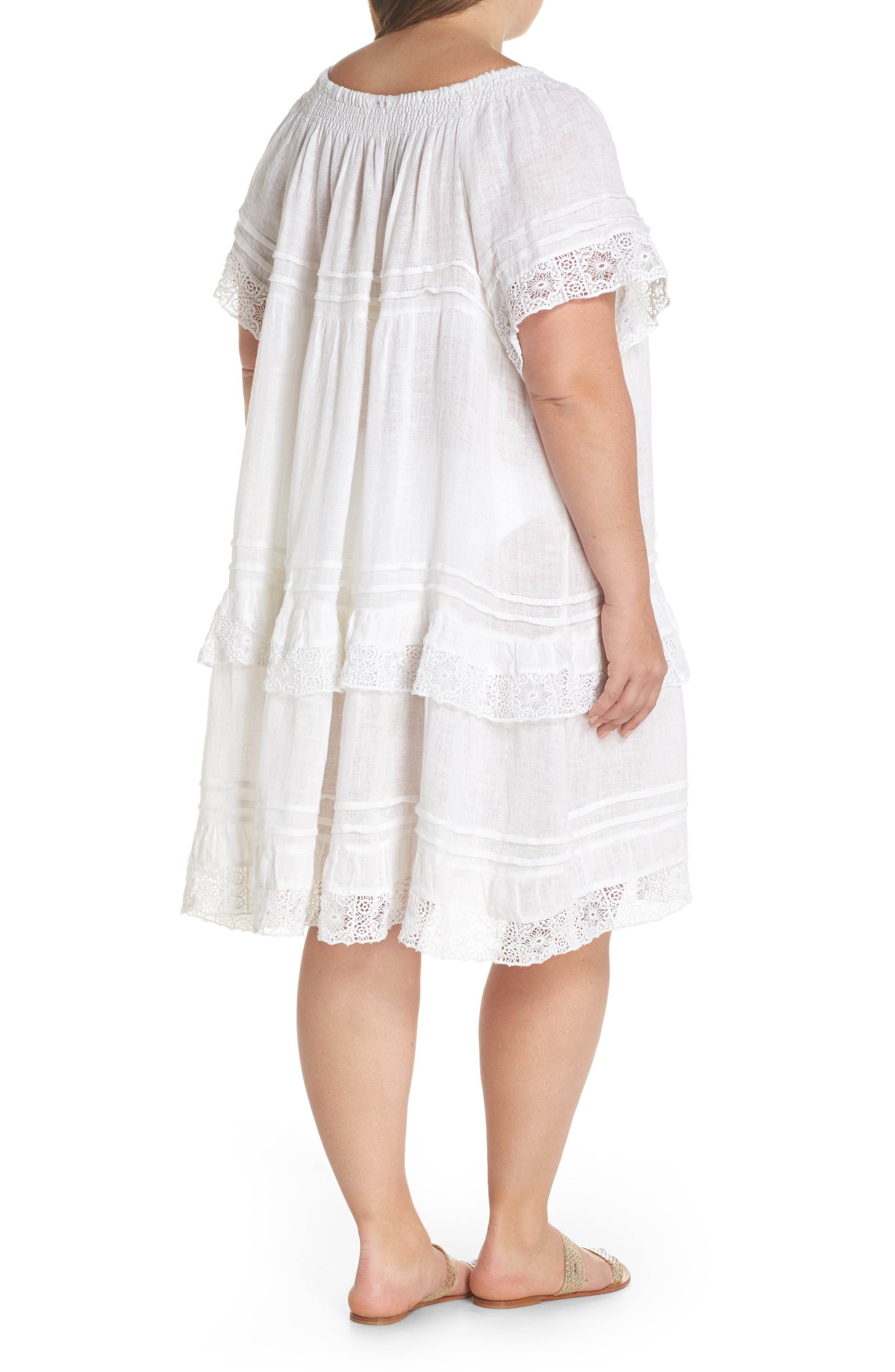 Esmerelda Cover-Up Dress,                             Alternate thumbnail 2, color,                             White