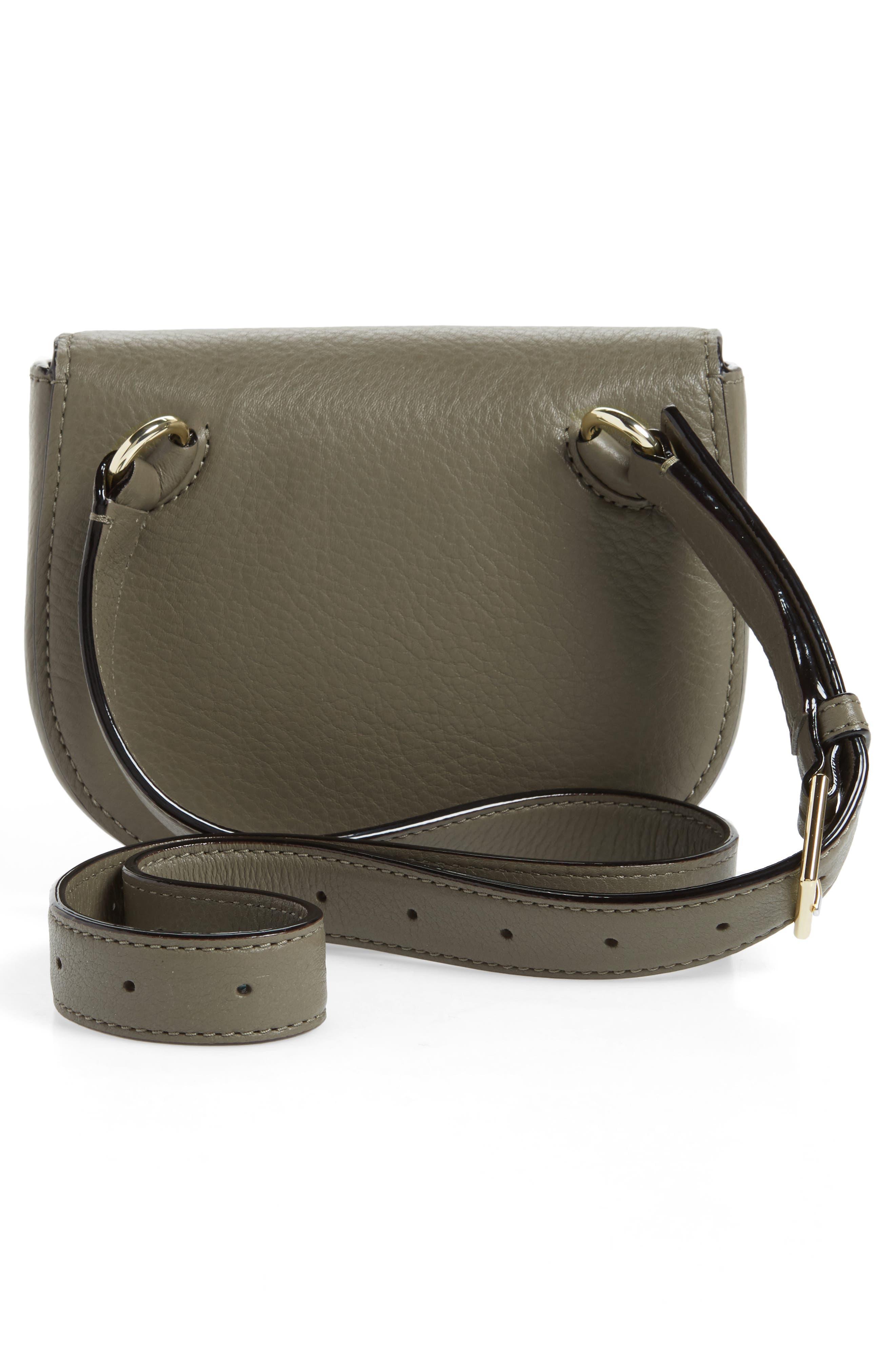 greenwood place rita leather belt bag,                             Alternate thumbnail 3, color,                             Olive