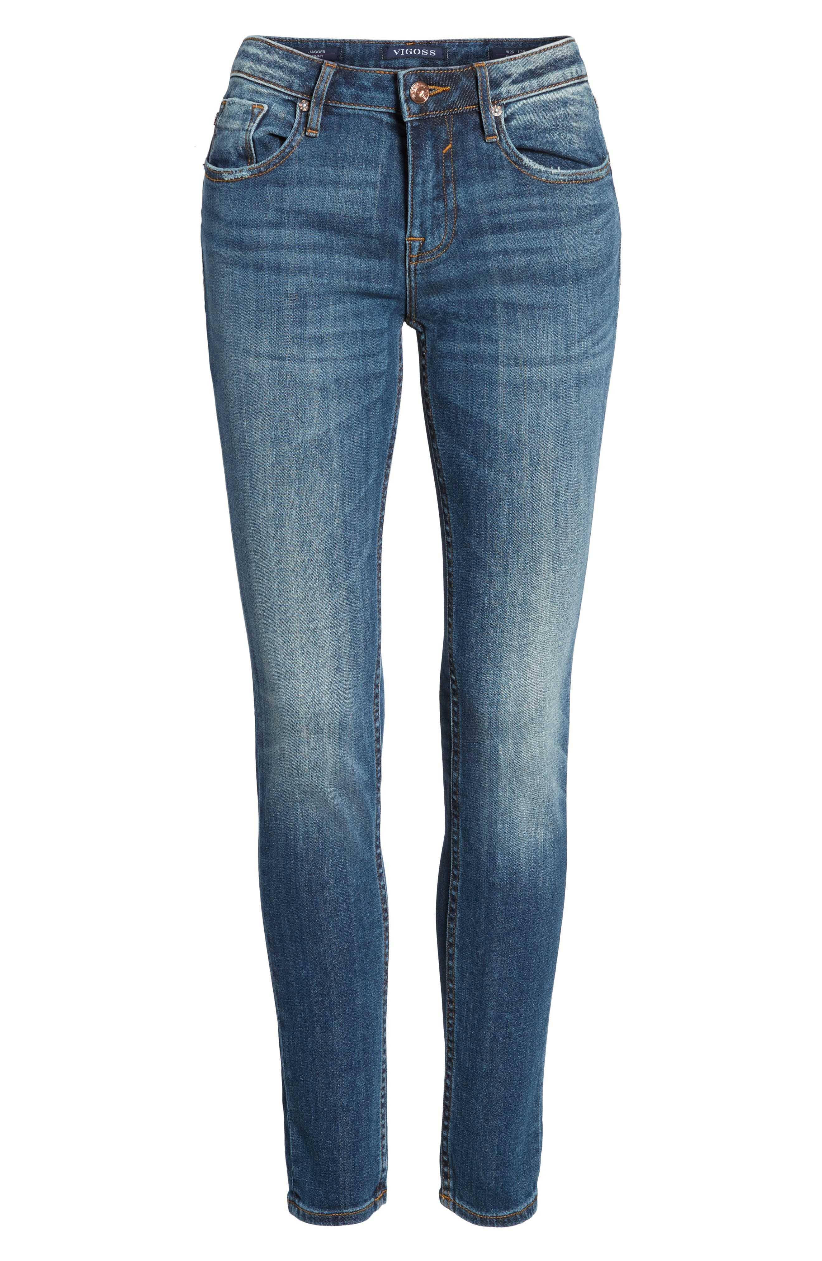 Jagger Skinny Jeans,                             Alternate thumbnail 7, color,                             Medium Wash