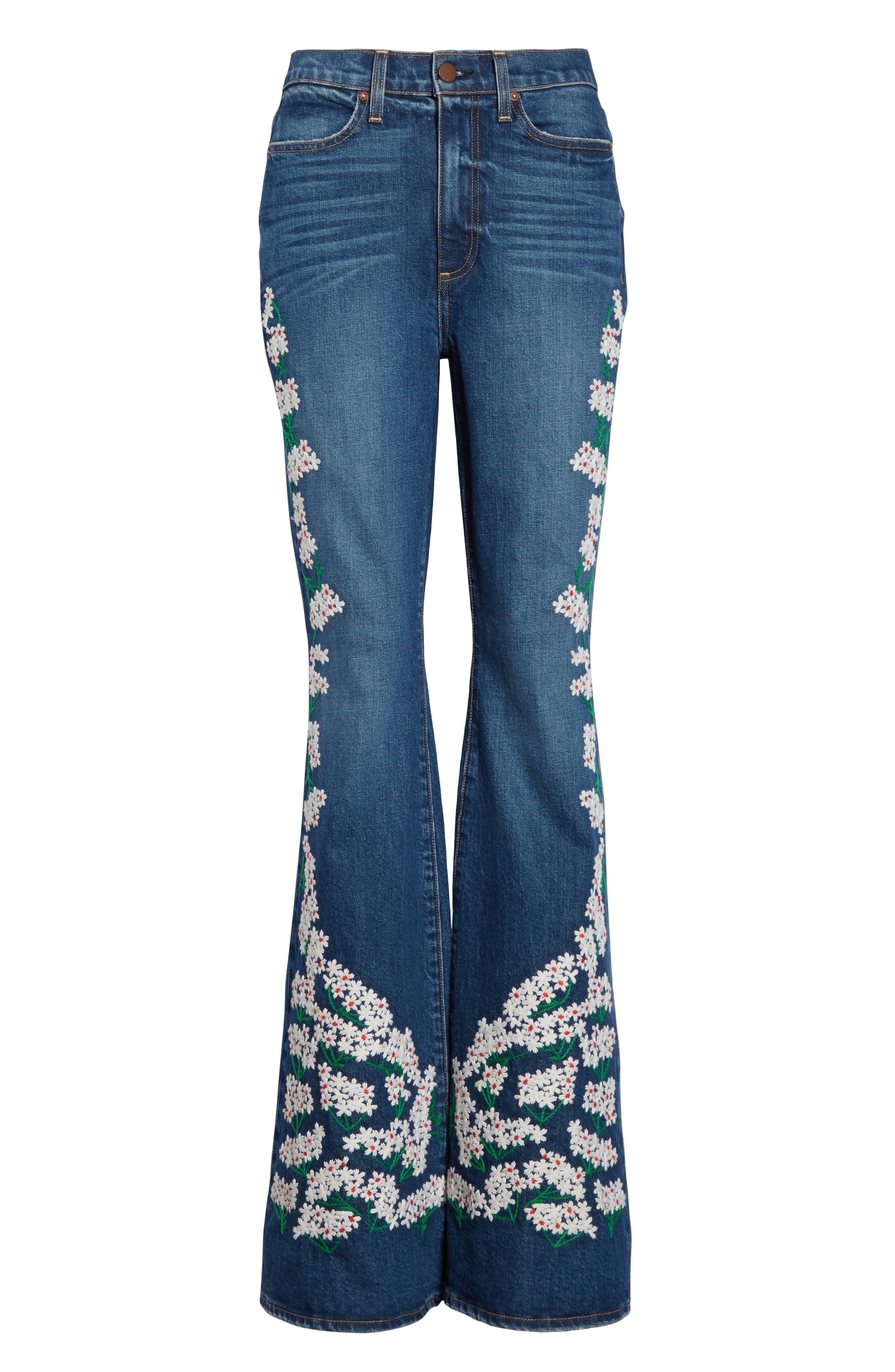 AO.LA Beautiful High Waist Bell Jeans,                             Alternate thumbnail 6, color,                             Secret Meeting