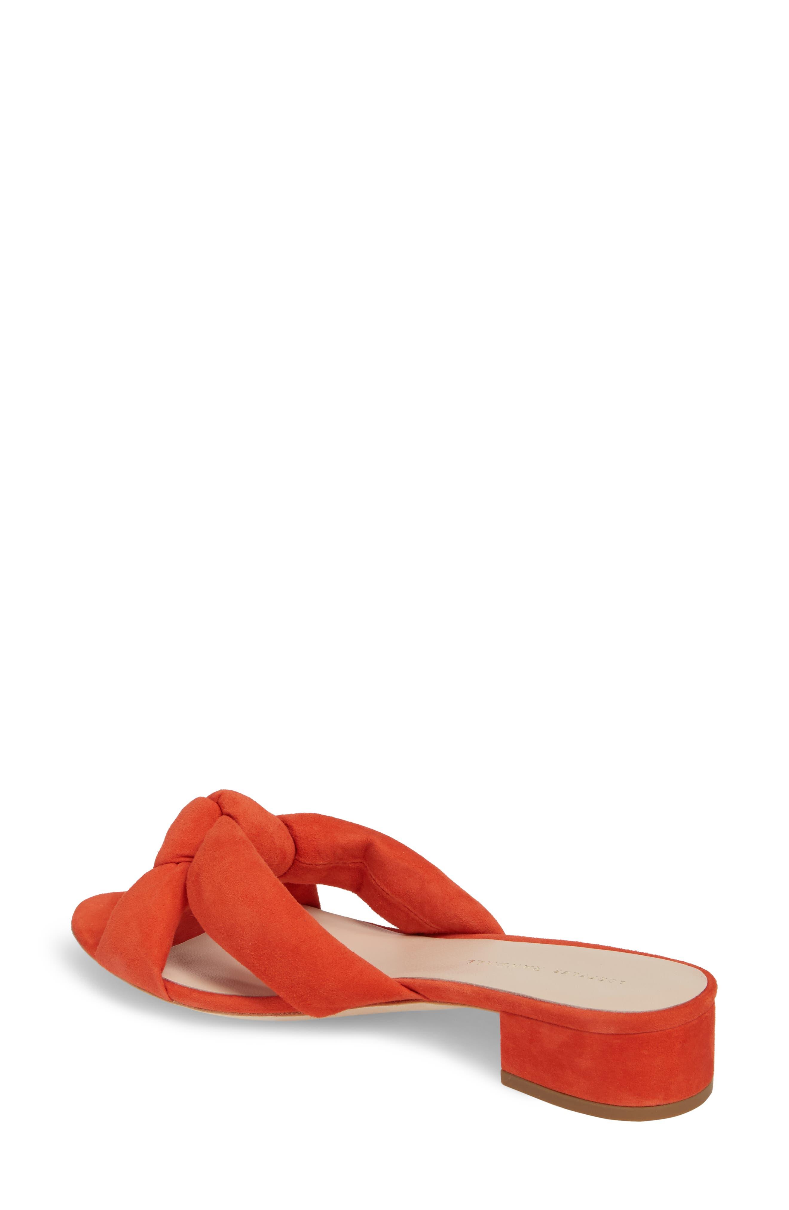 Elsie Knotted Slide Sandal,                             Alternate thumbnail 2, color,                             Persimmon