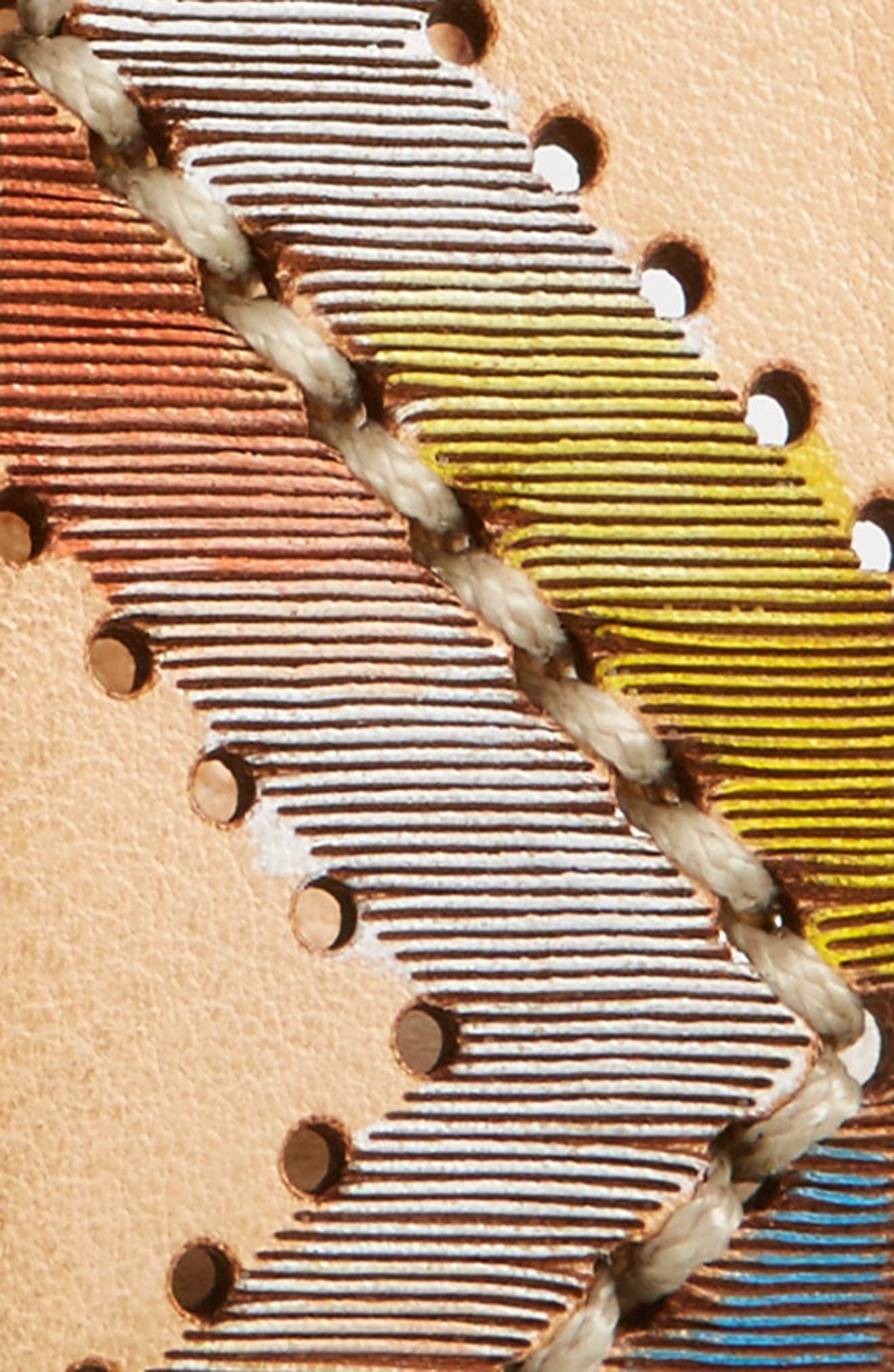 Embellished Leather Belt,                             Alternate thumbnail 2, color,                             Unique
