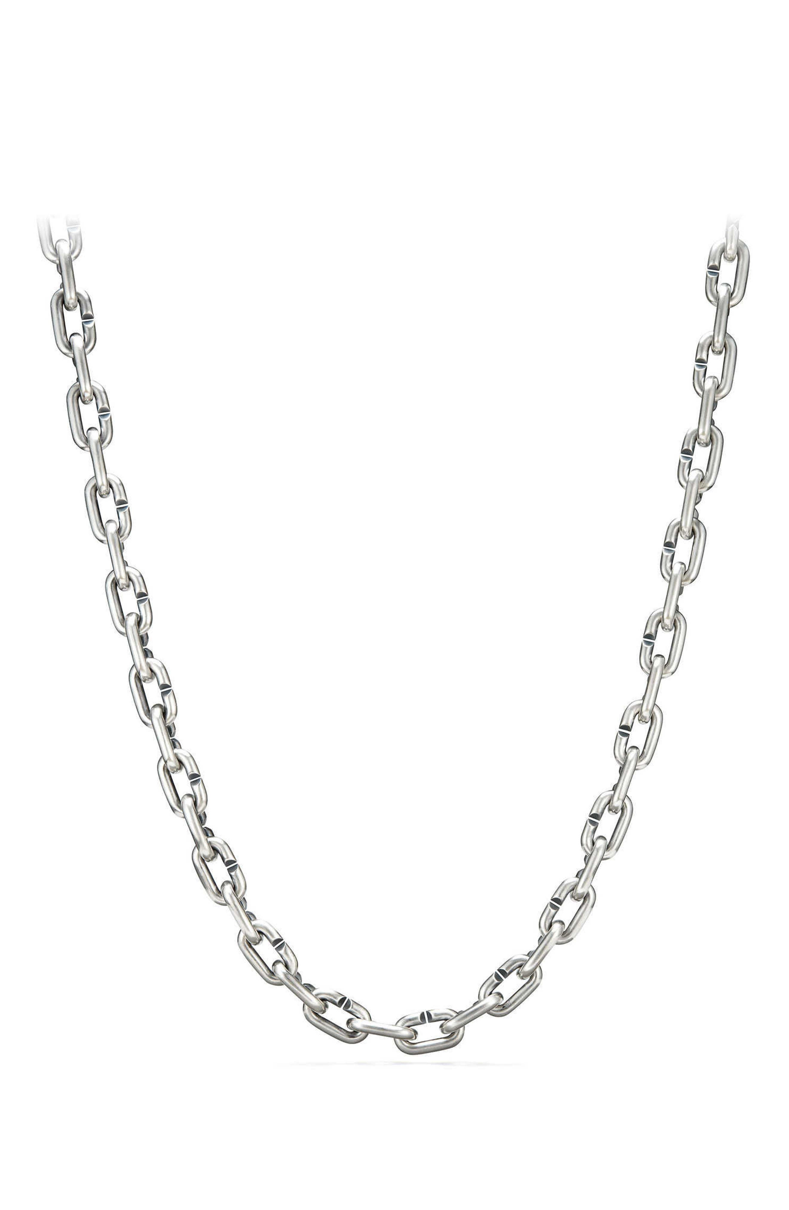 Bold Chain Links Necklace,                             Alternate thumbnail 2, color,                             Silver