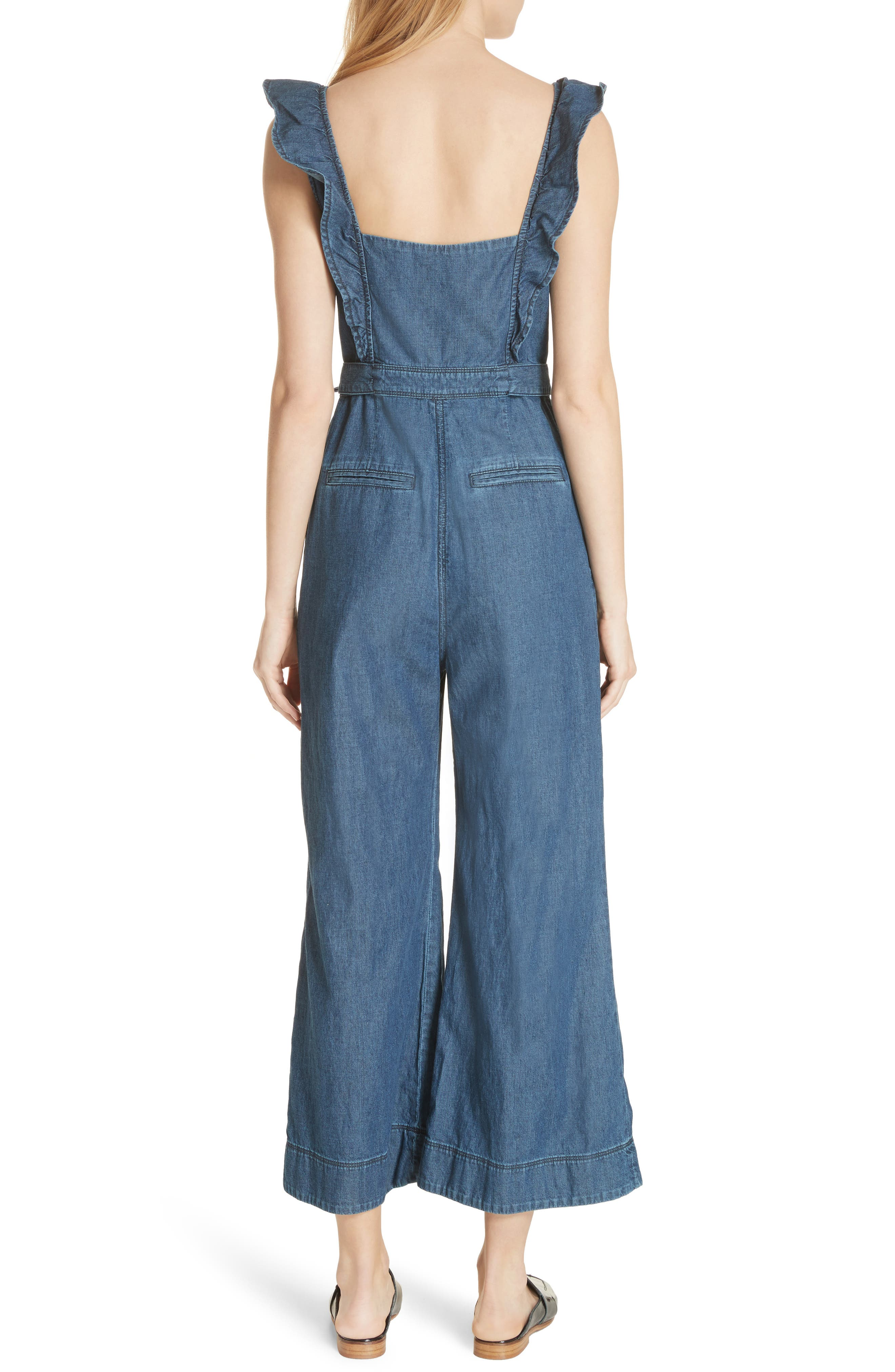 Sun Valley Jumpsuit,                             Alternate thumbnail 2, color,                             Dark Denim