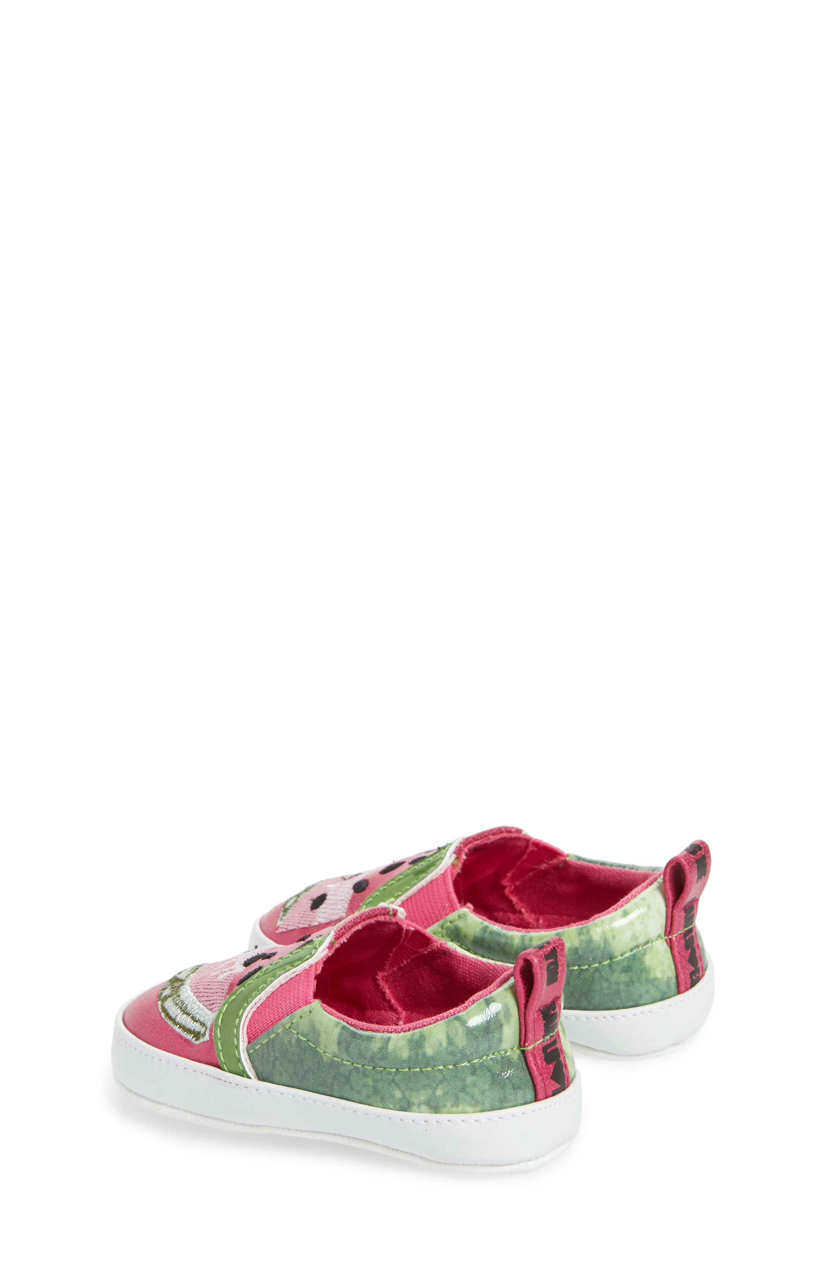 Baby Blane Watermelon Sneaker,                             Alternate thumbnail 2, color,                             Fuchsia Faux Leather
