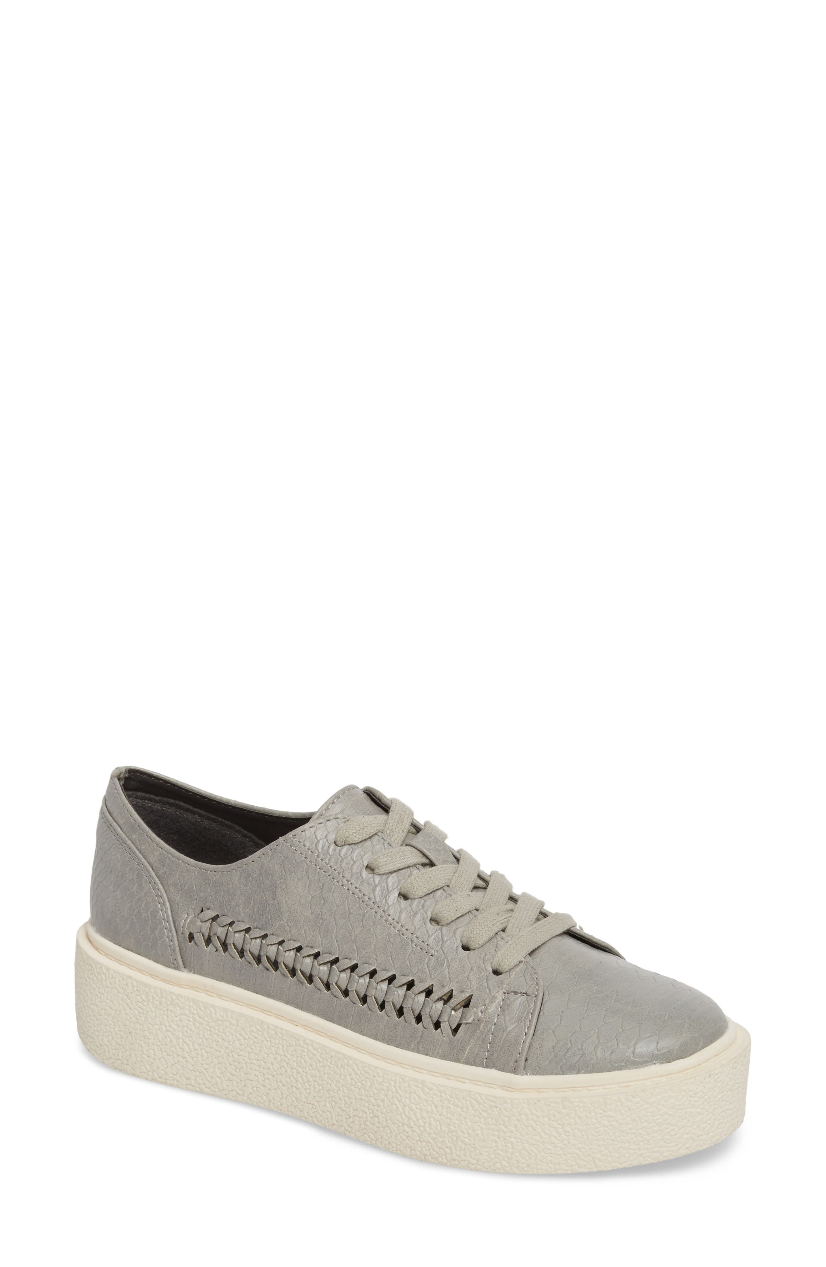 White Out Platform Sneaker,                         Main,                         color, Grey Fabric