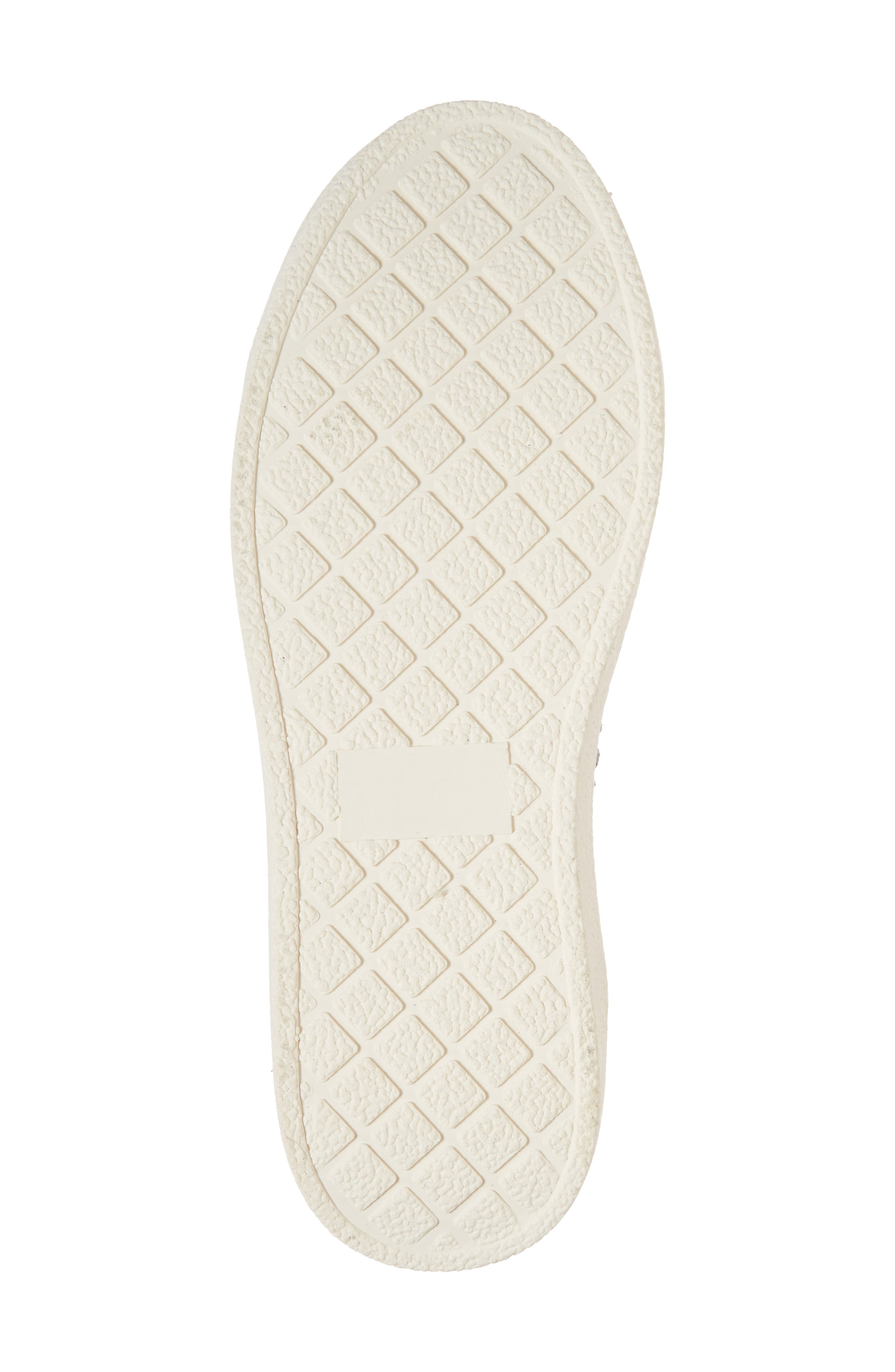 White Out Platform Sneaker,                             Alternate thumbnail 6, color,                             Grey Fabric