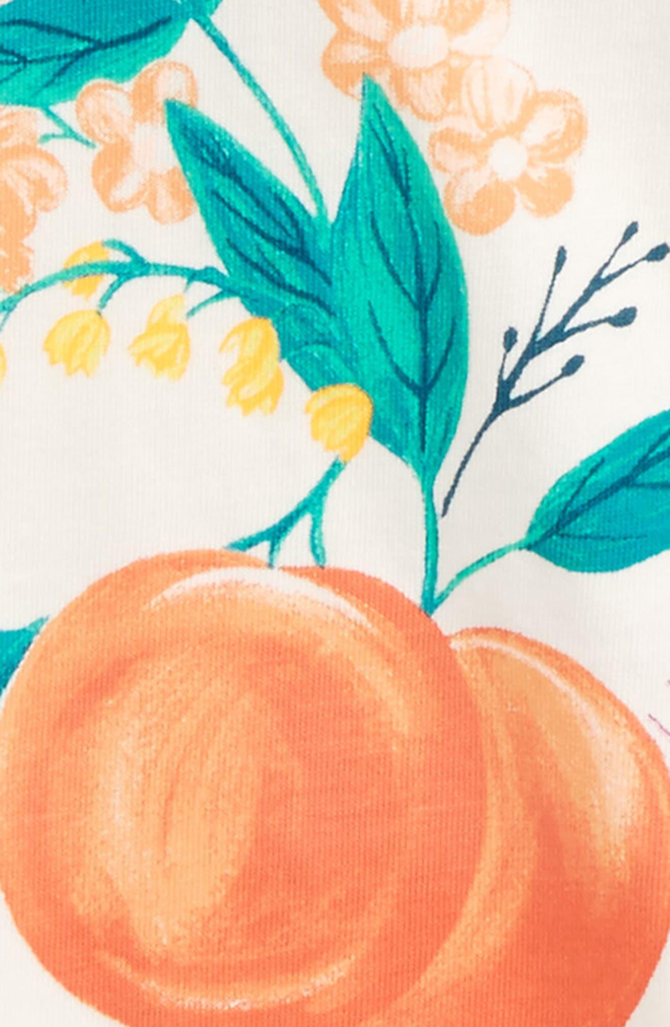Georgia Peach Flower Graphic Tee,                             Alternate thumbnail 2, color,                             Chalk